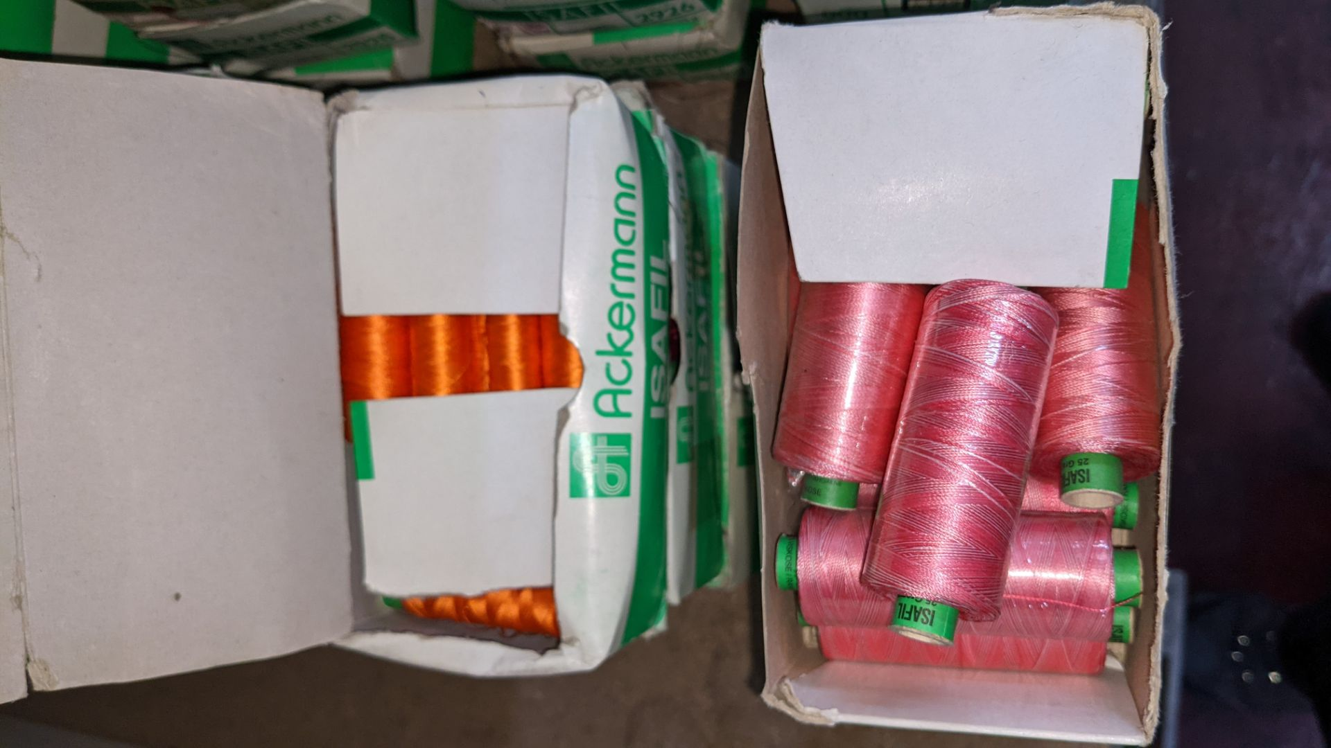 15 boxes of Ackermann Isafil viscose/rayon embroidery thread - Image 5 of 8