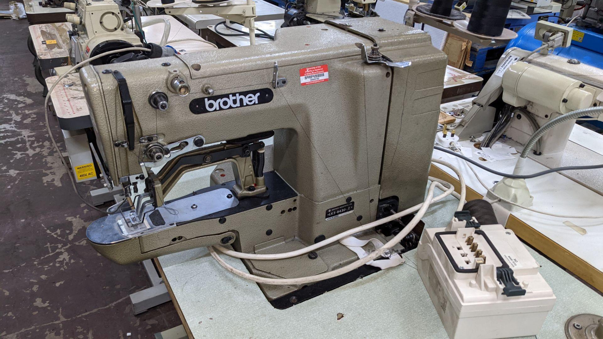 Brother bar tack sewing machine model LK3-B430-2 - Image 5 of 15