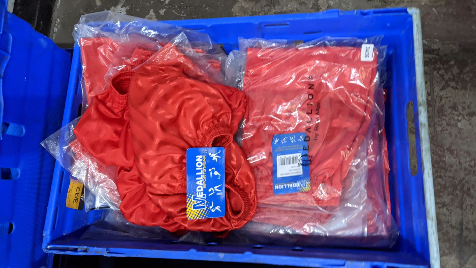 Approx 20 off red children's sports shorts - Image 2 of 5
