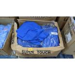 Quantity of royal blue polo shirts - 1 box