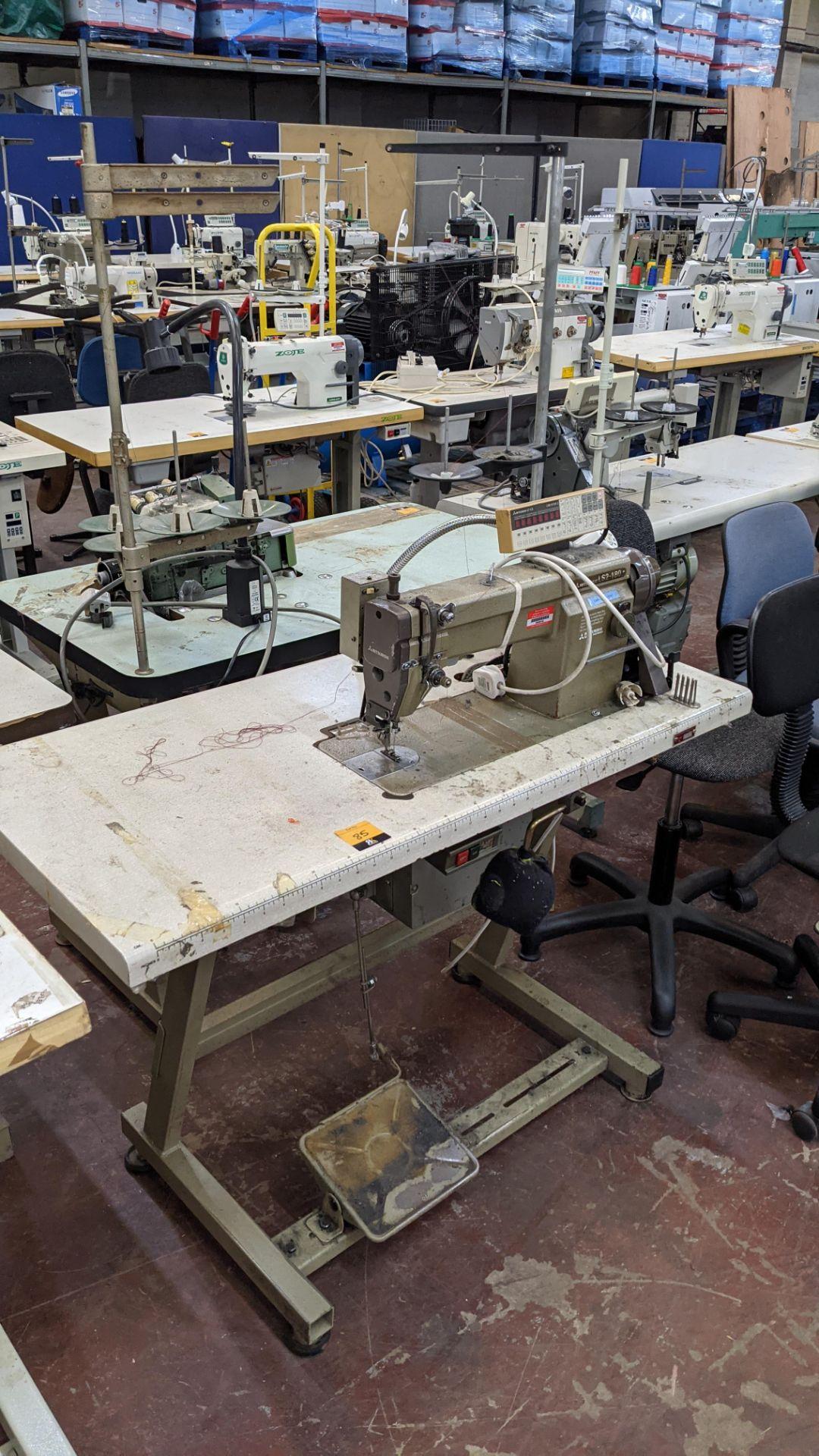 Mitsubishi LS2-180 sewing machine with Mitsubishi LF-C8 digital controller - Image 12 of 12