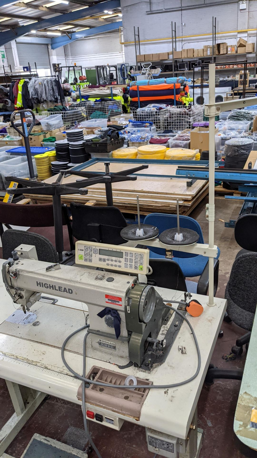 Highlead model GC128-M-D3 sewing machine with model C-60M digital controller - Image 3 of 14
