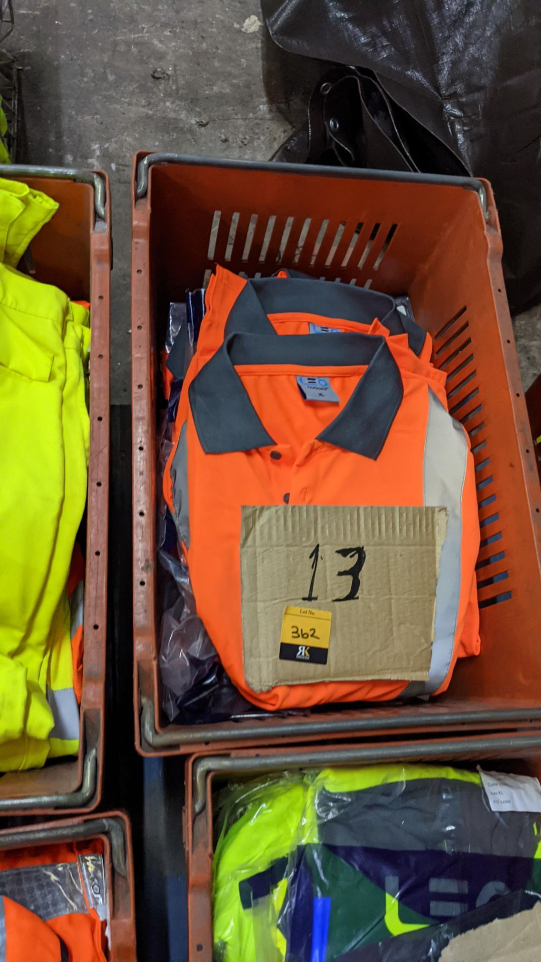 13 off hi-vis polo shirts (orange) - Image 2 of 4