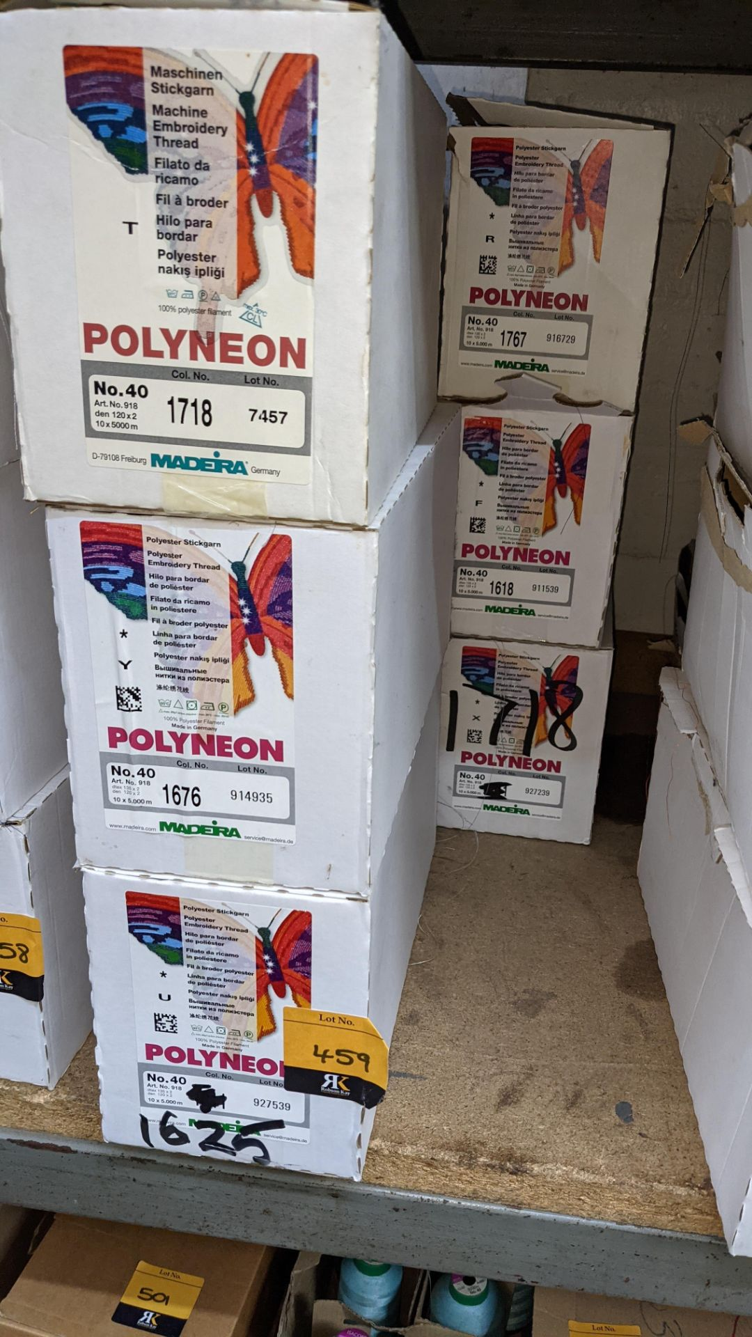 6 boxes of Madeira Polyneon No. 40 polyester embroidery thread