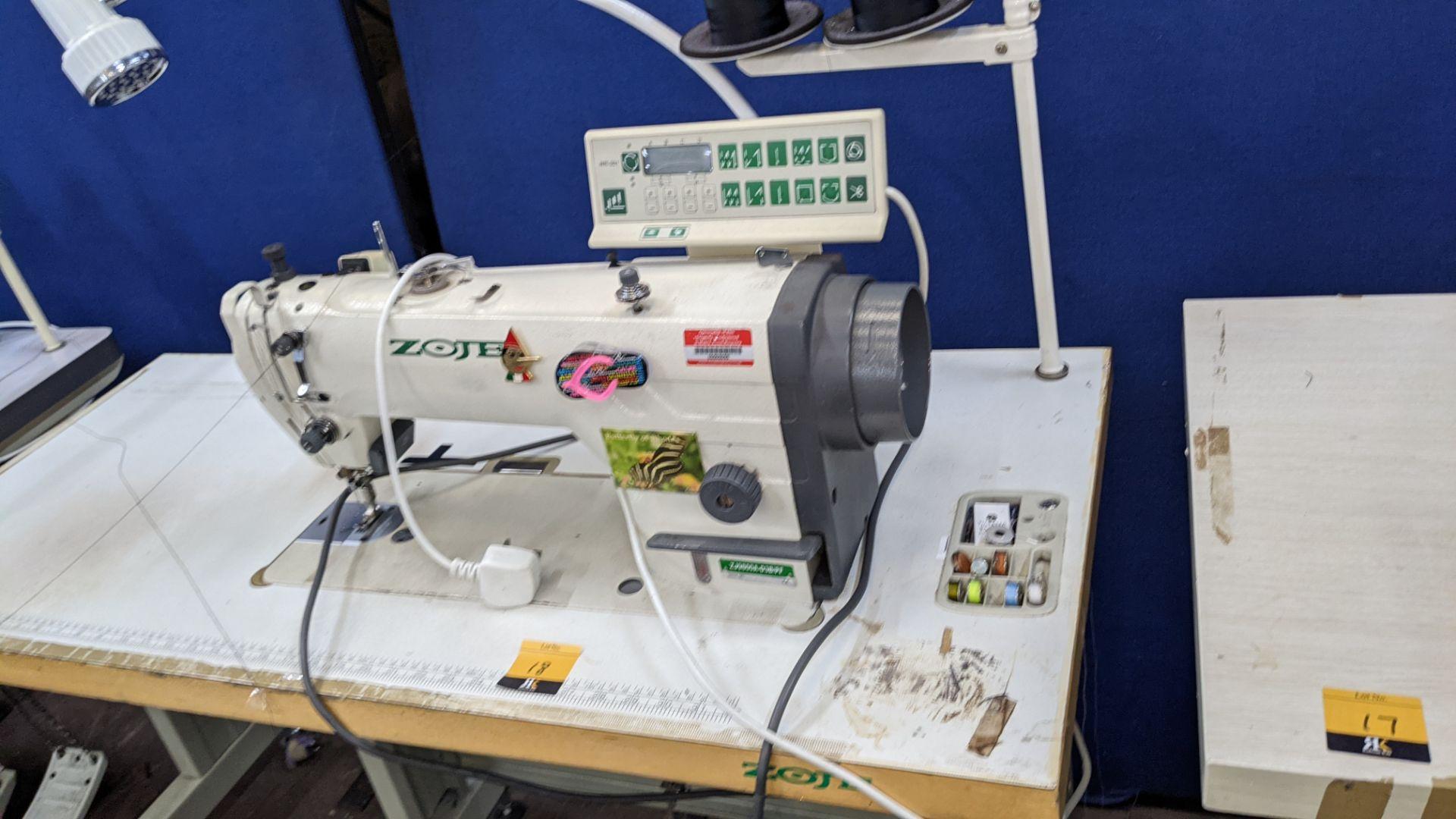 Zoje model ZJ9800A-D3B/PF lockstitch sewing machine with model WR-501 digital controller - Image 17 of 20