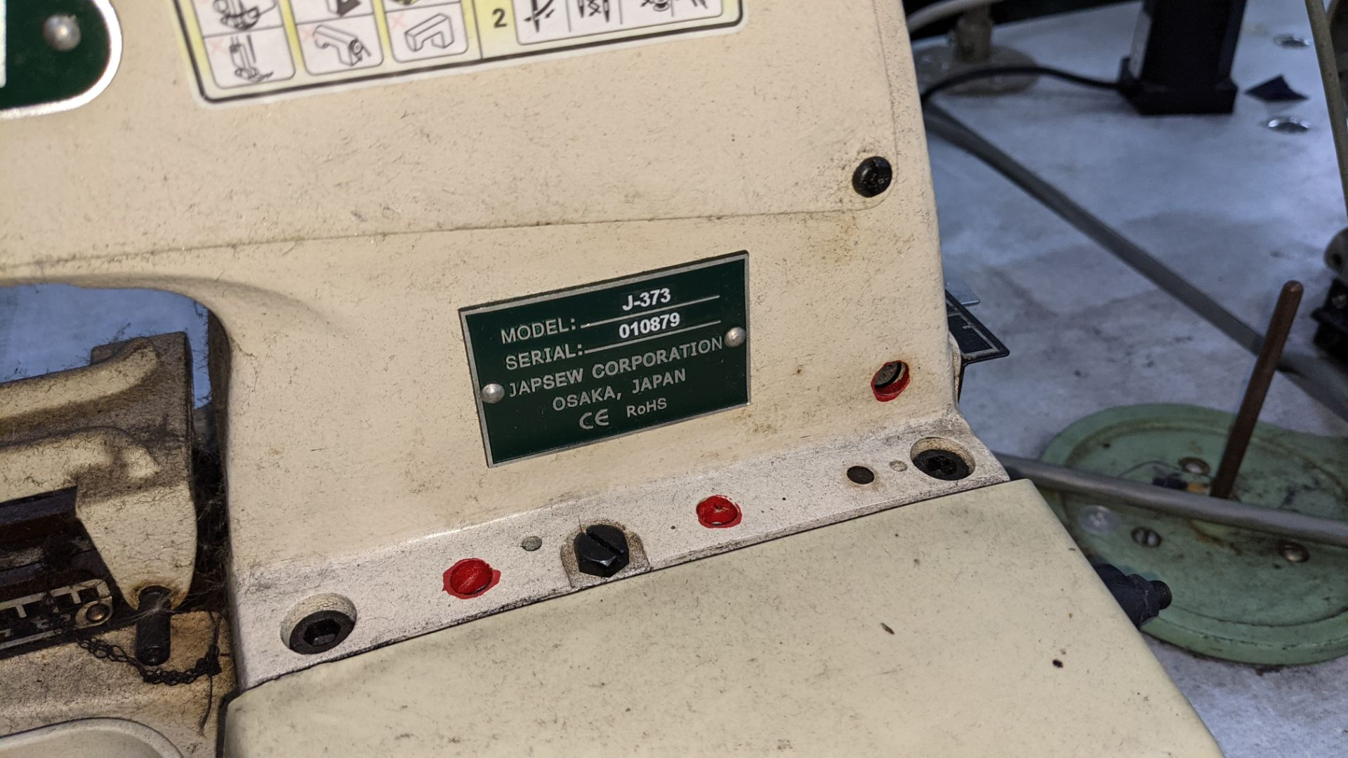 Japsew model J-373 button sewer - Image 7 of 15