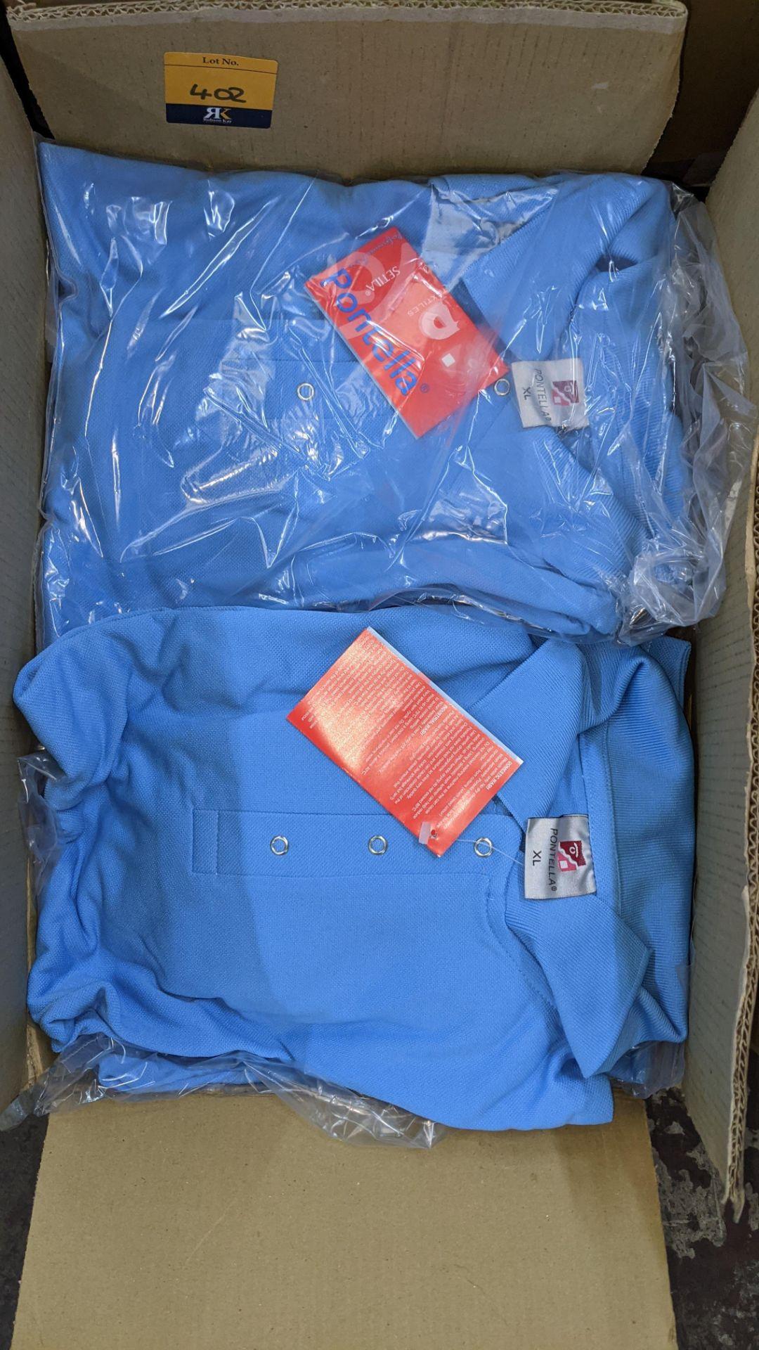 Approx 20 off Portland sky blue polo shirts - Image 4 of 4