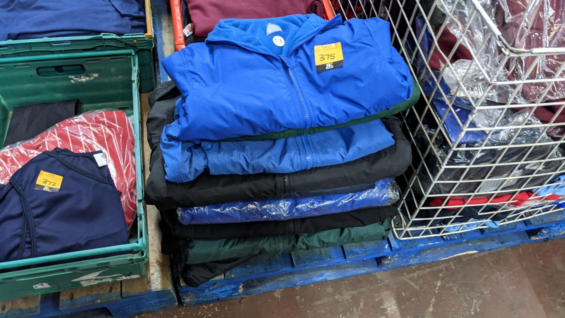 Approx 10 off assorted children's zip up jackets