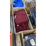 Approx 10 off assorted children's burgundy/red t-shirts & sweatshirts - the contents of 1 crate. NB