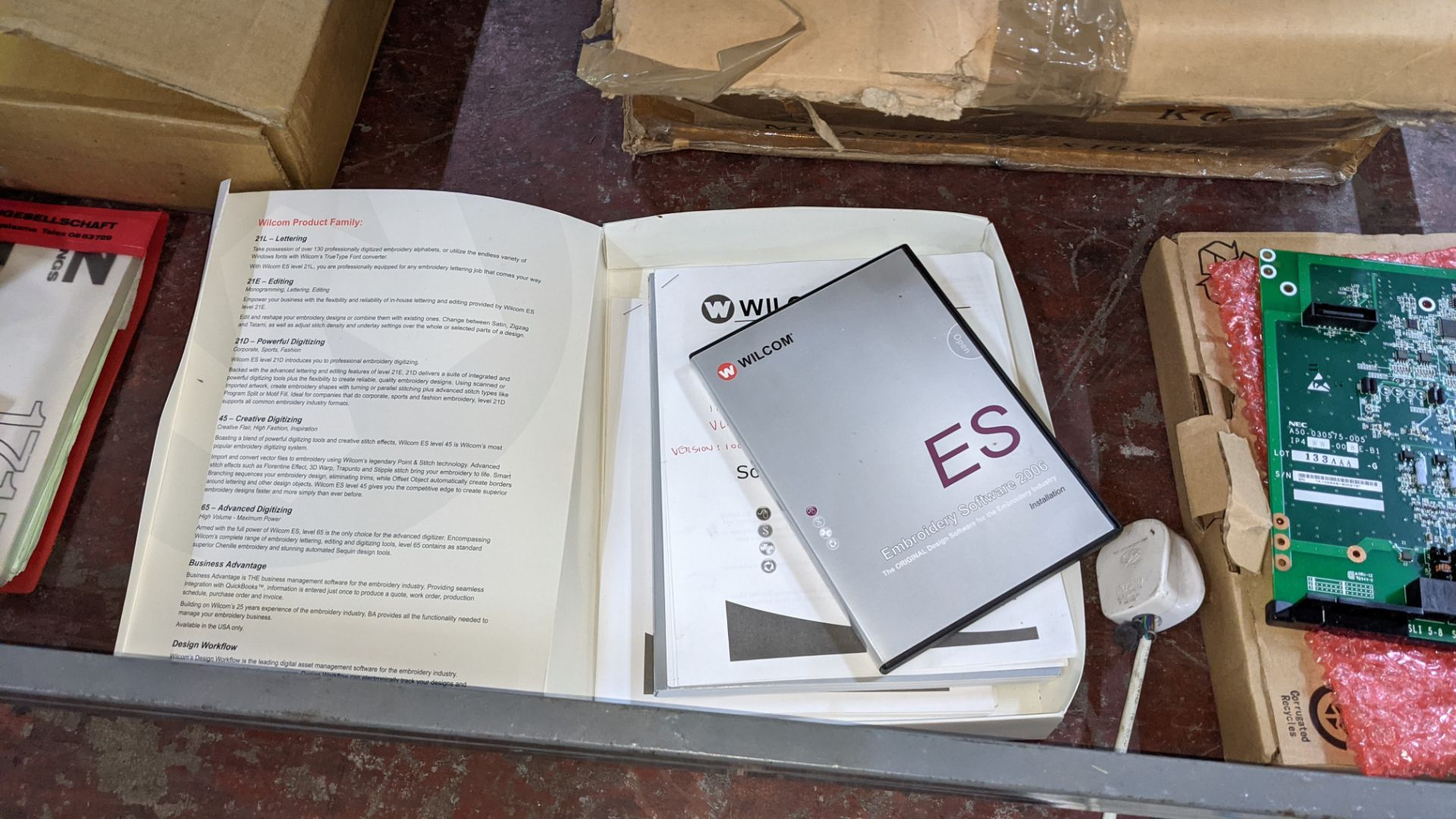Quantity of spares/ancillaries in 3 boxes as pictured plus quantity of machine manuals/software - th - Image 5 of 12