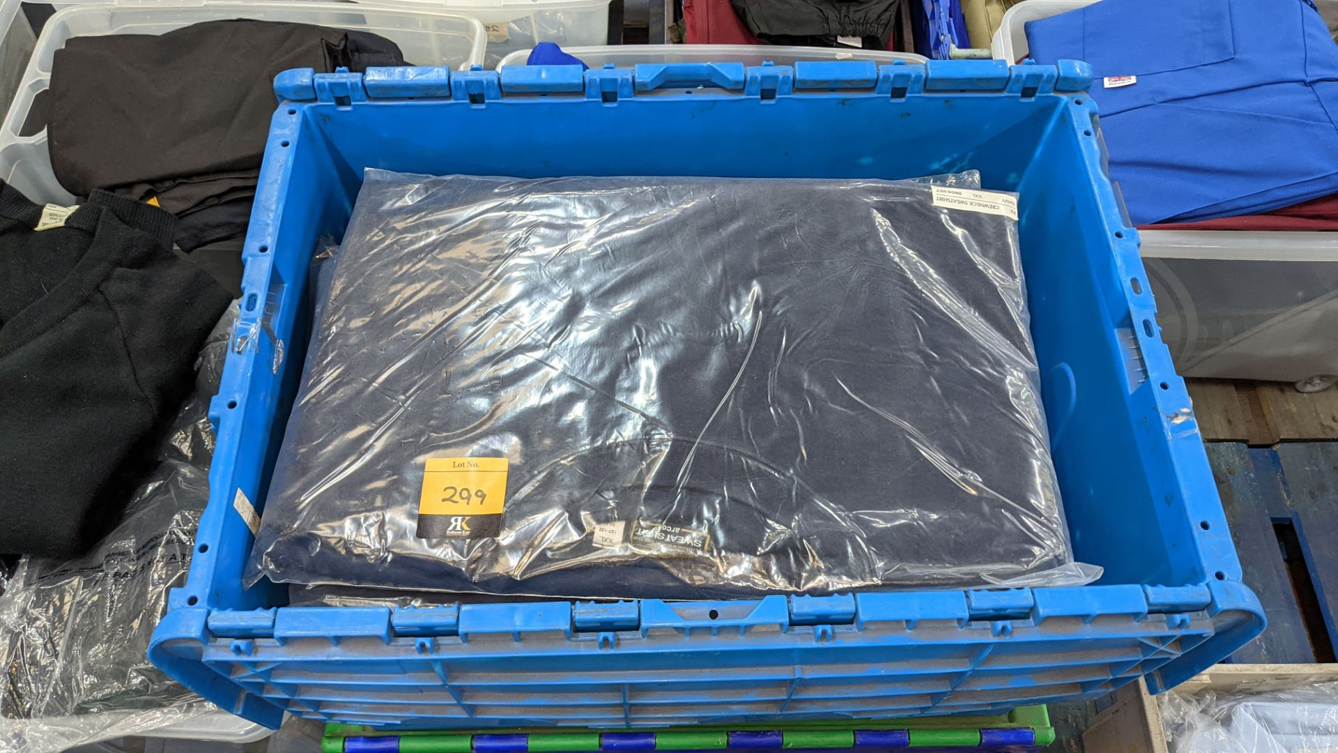 15 off workwear blue sweatshirts - the contents of 1 crate. NB crate excluded - Image 2 of 5