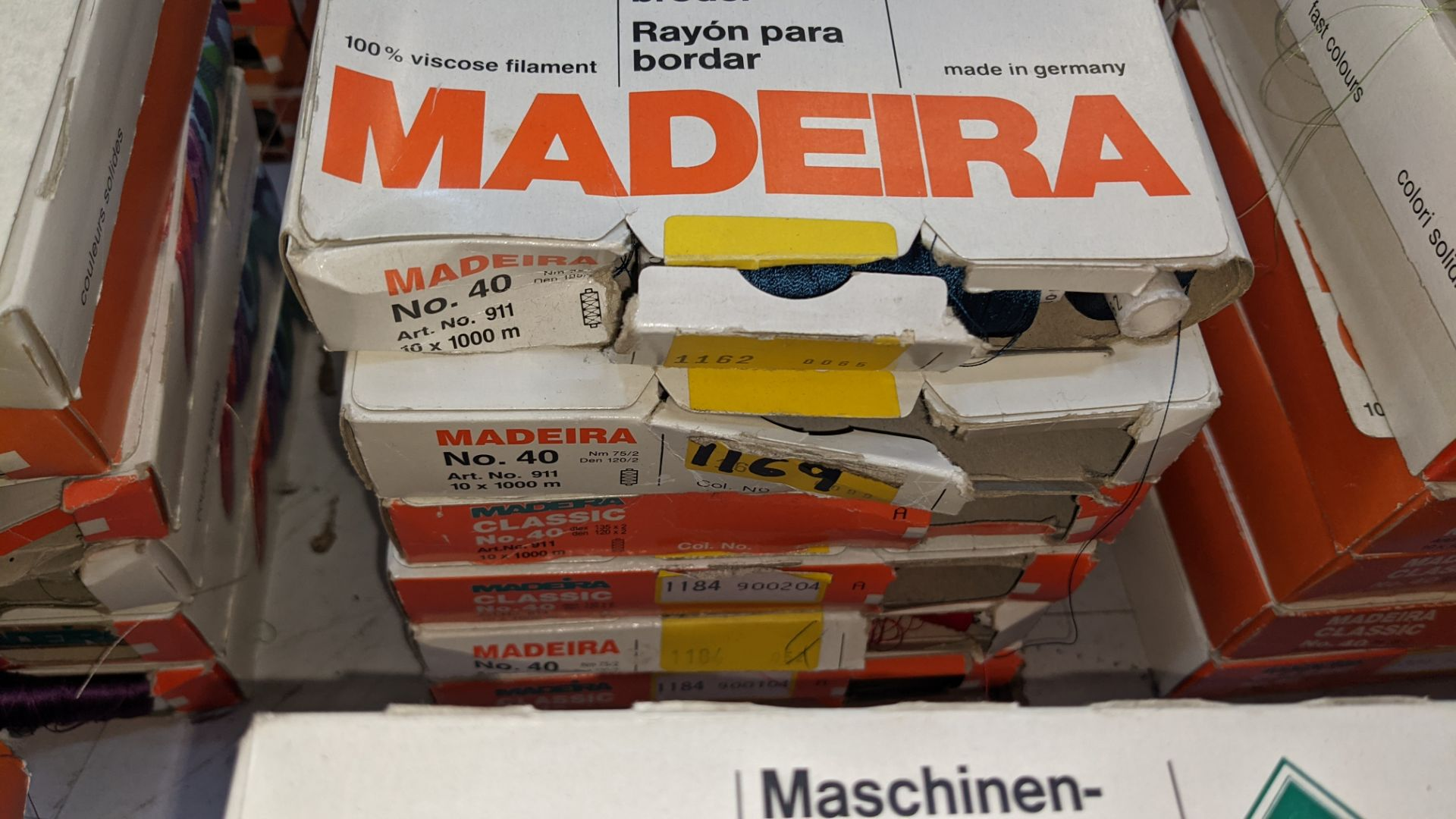 30 boxes of Madeira Classic No. 40 rayon embroidery thread - Image 4 of 12