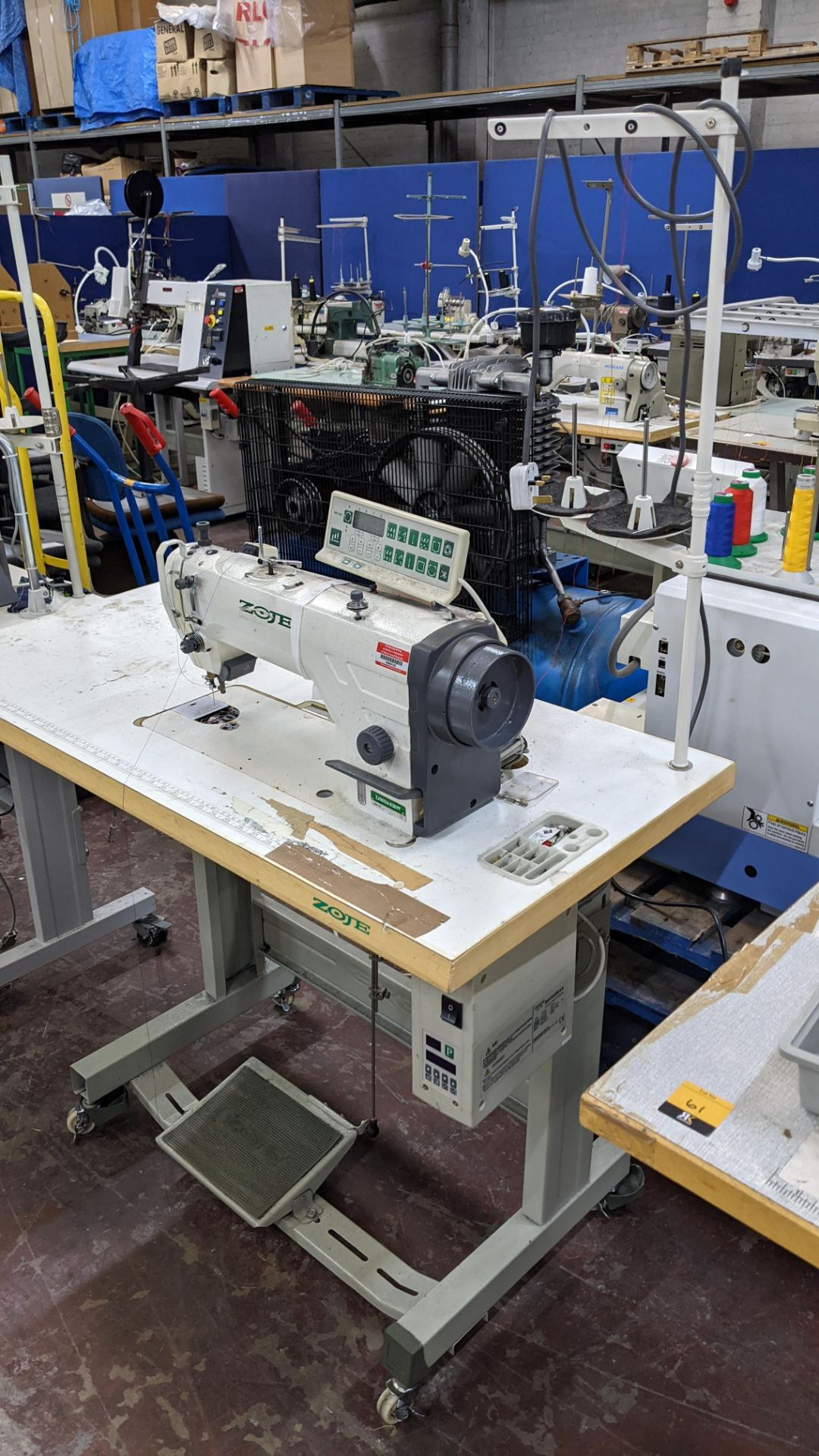 Zoje model ZJ9800A-D3B/PF sewing machine with WR-501 controller - Image 3 of 16