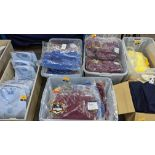 Approx 23 off school wear children's sweatshirts in blue & red - this lot consists of the contents o