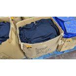 Large quantity of blue polo shirts - 1 box