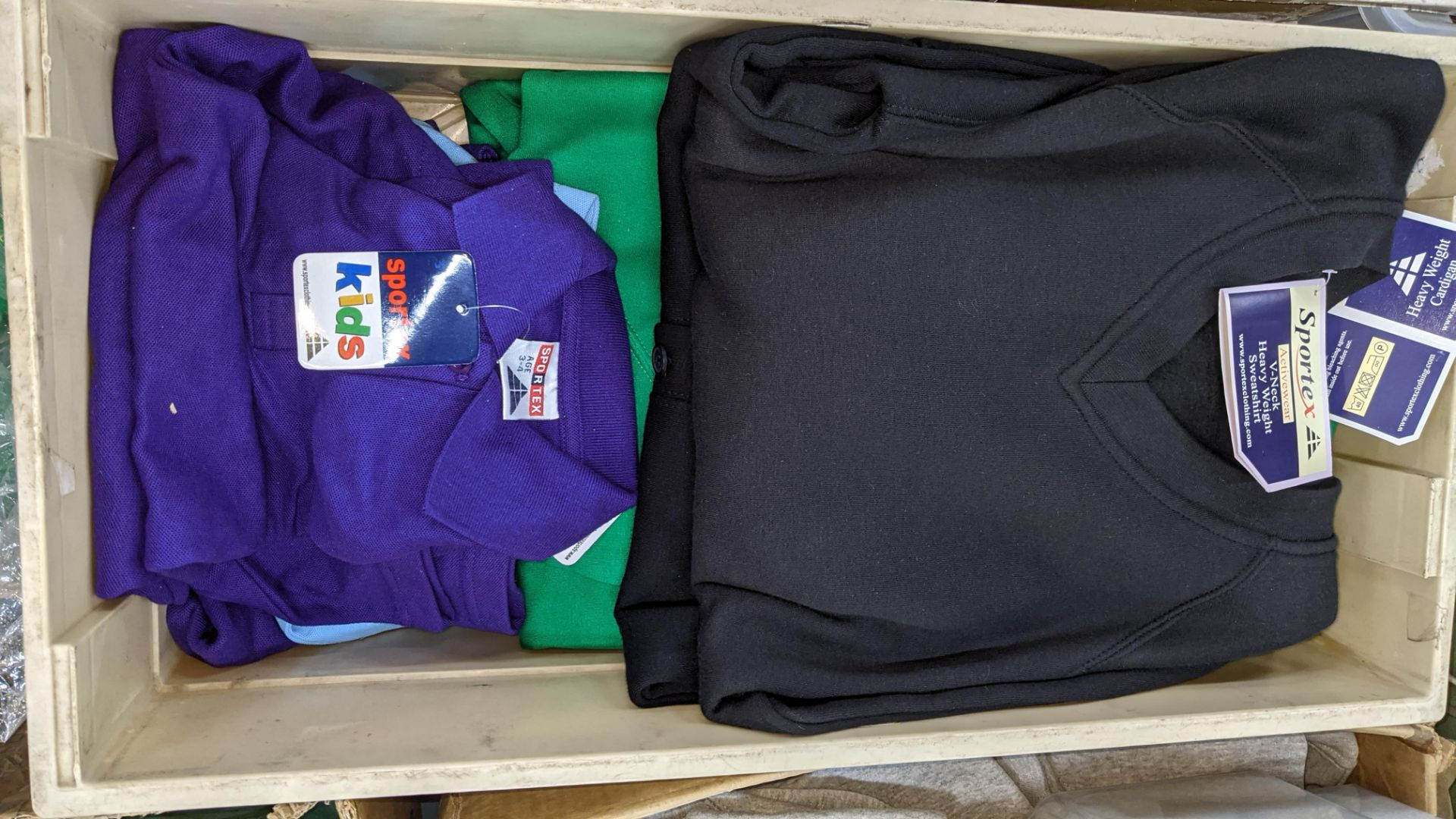 The contents of 5 crates of assorted children's sweatshirts, polo shirts & other school clothing. - Image 6 of 8