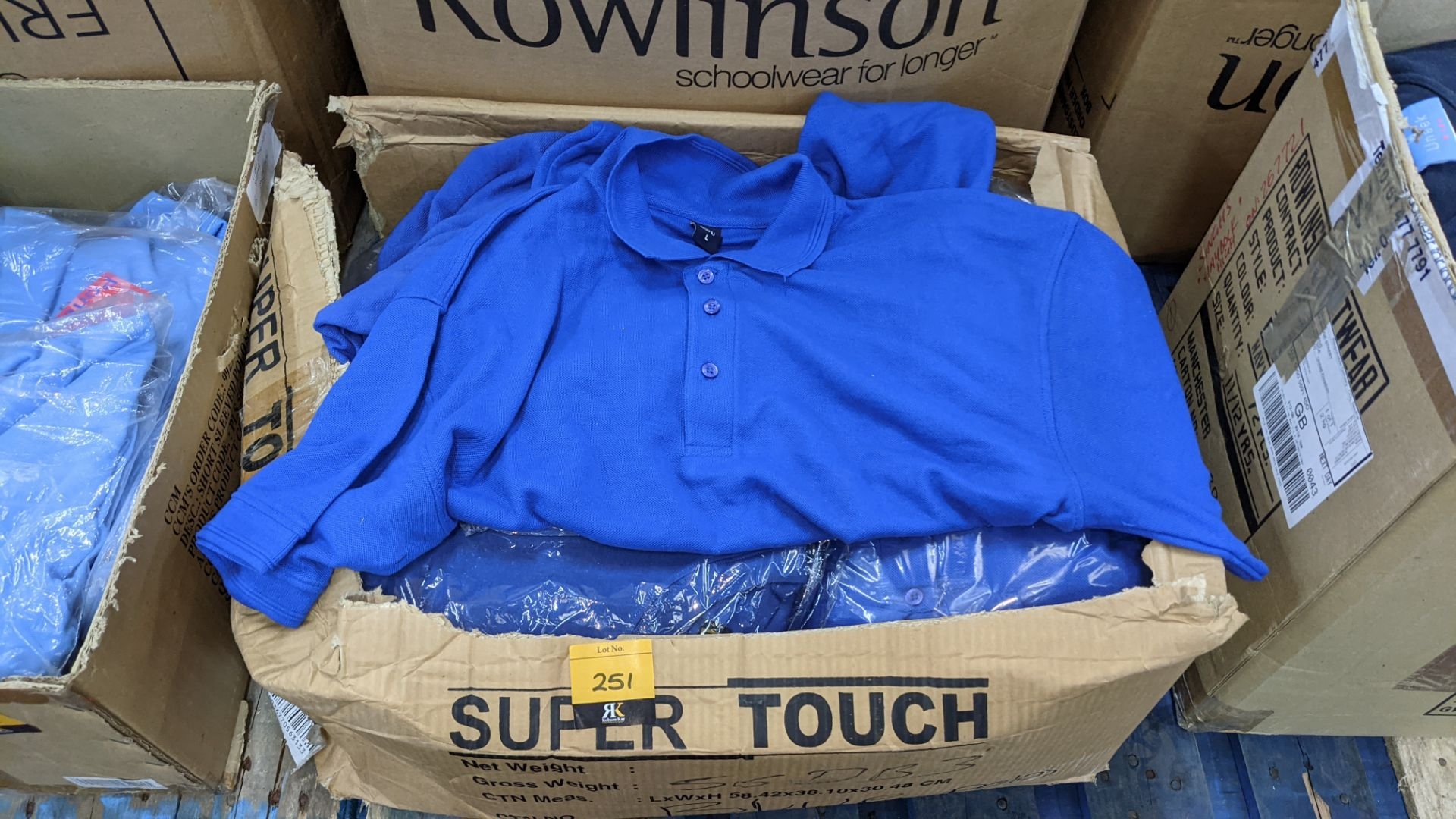 Quantity of royal blue polo shirts - 1 box - Image 3 of 4