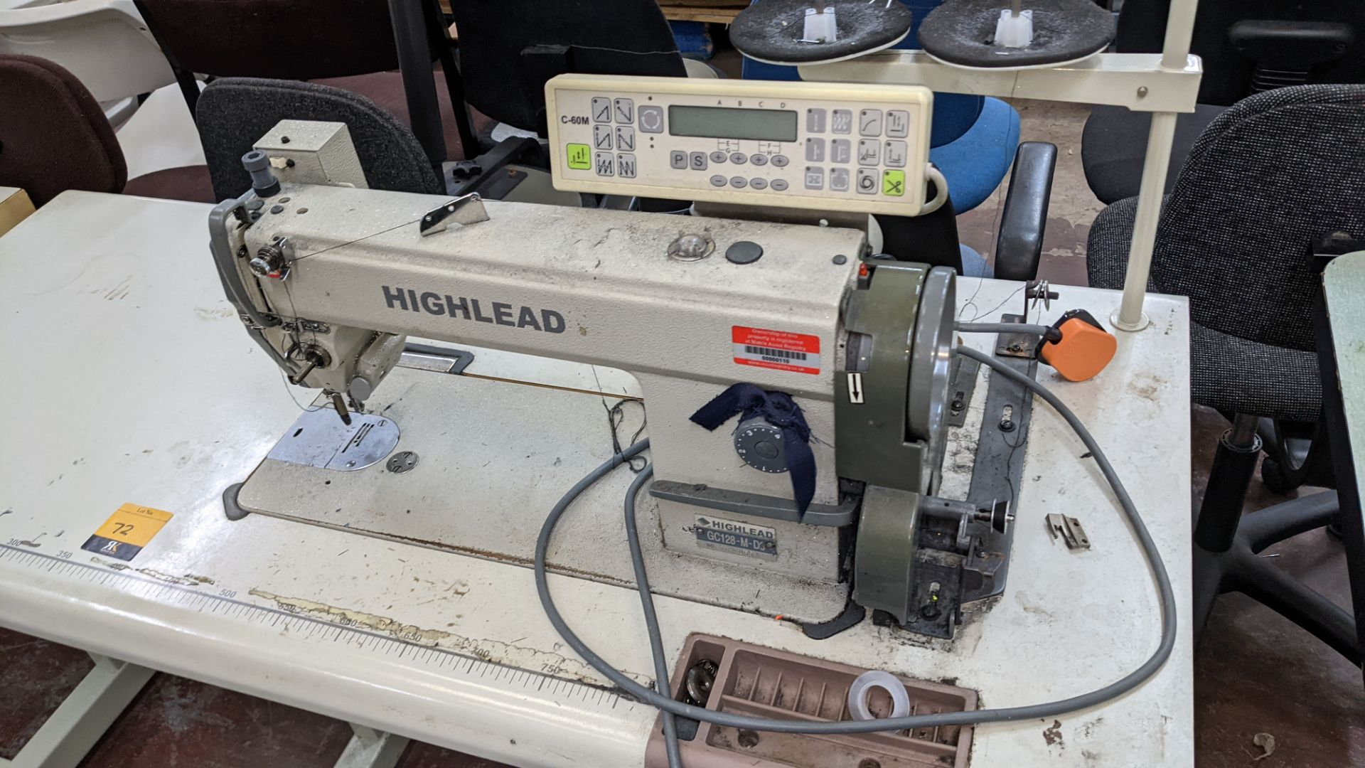 Highlead model GC128-M-D3 sewing machine with model C-60M digital controller - Image 4 of 14