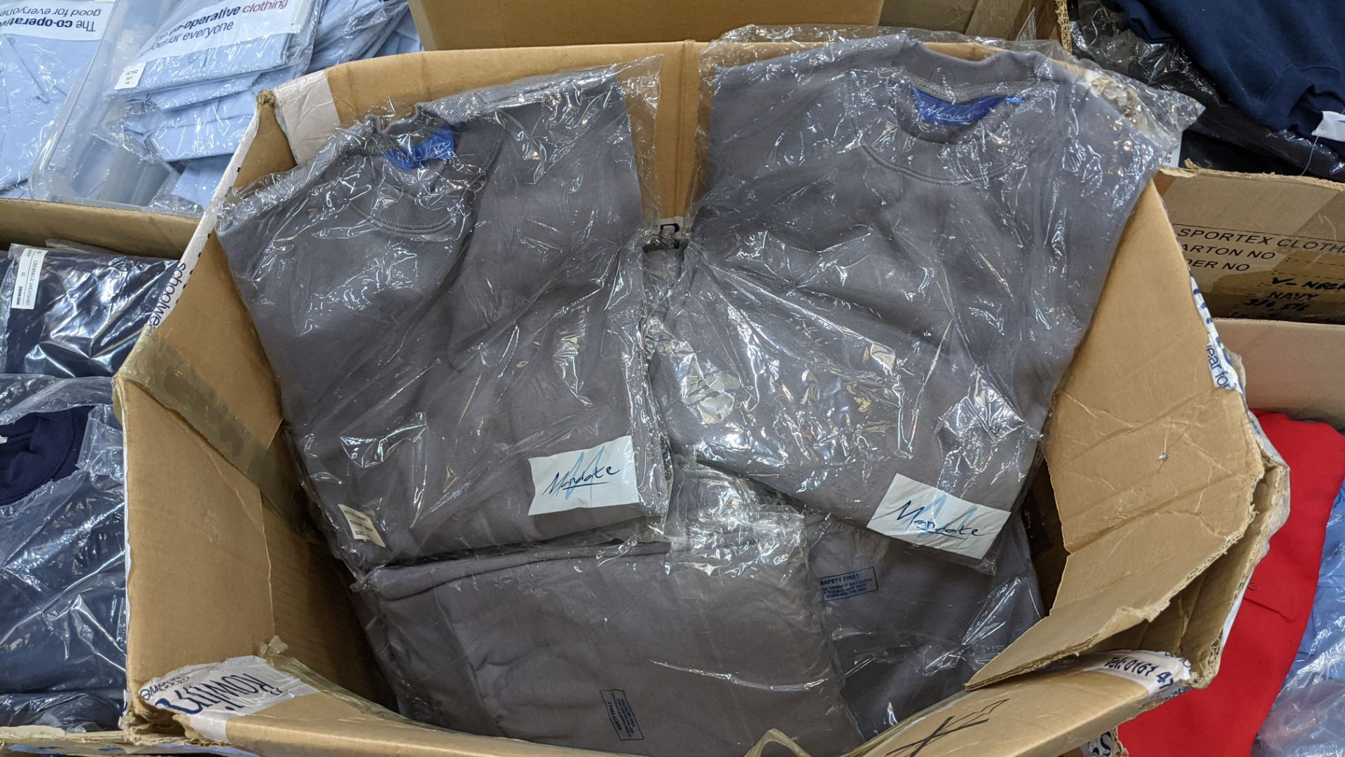 Approx 32 off pale grey sweatshirts - 1 box - Image 3 of 4
