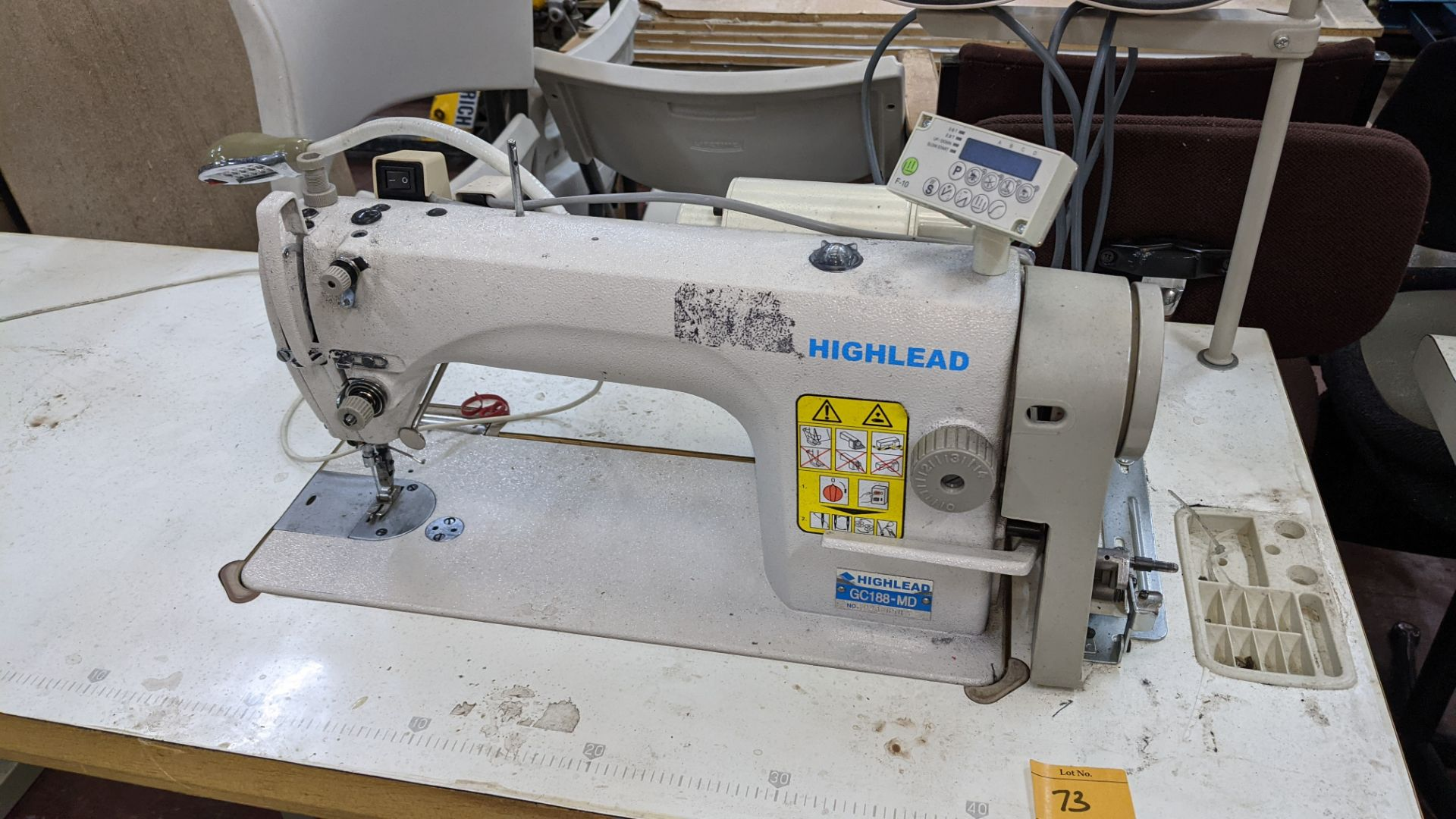 Highlead model GC188-MD sewing machine with model F-10 digital controller - Image 5 of 16