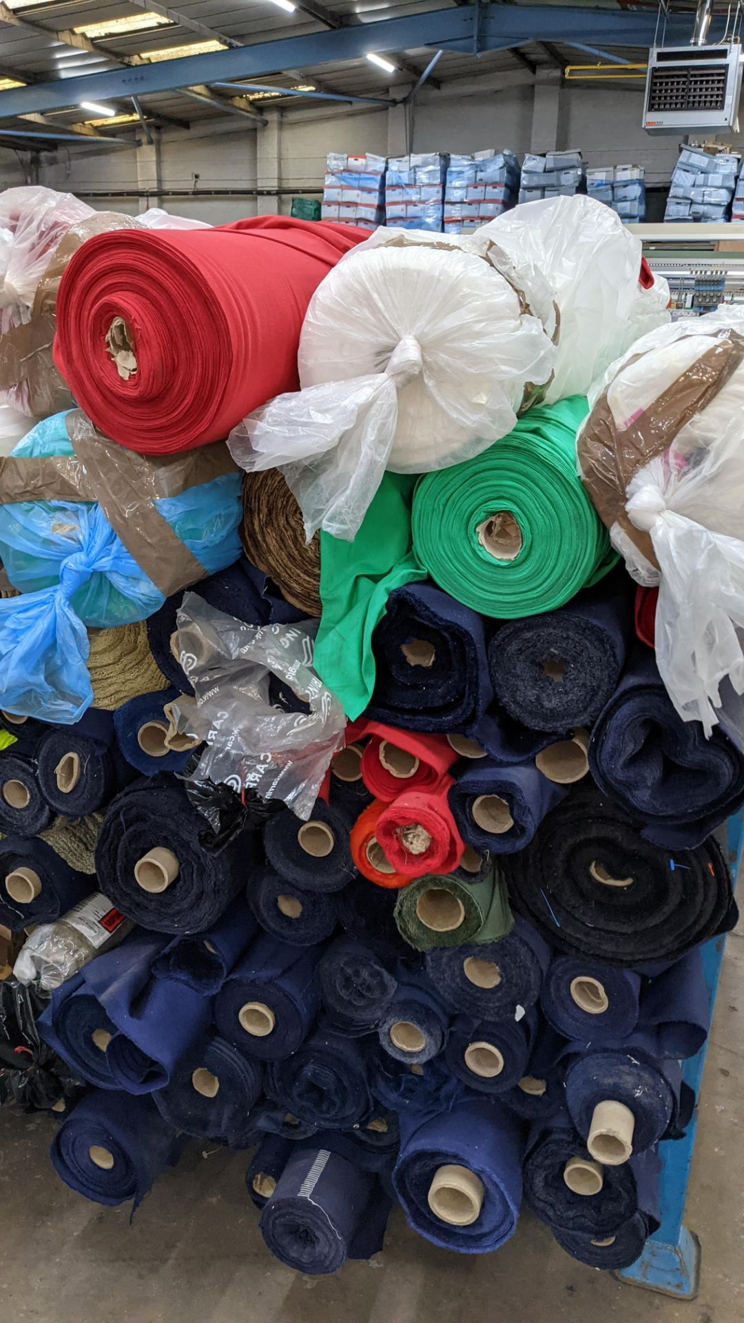 The contents of a large stillage of fabric. Please note the stillage is excluded and cannot be remo - Image 6 of 8
