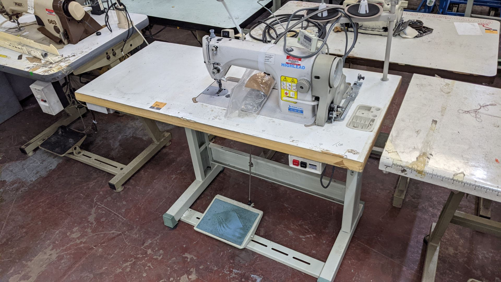 Highlead model GC188-MD sewing machine with model F-10 digital controller - Image 2 of 15