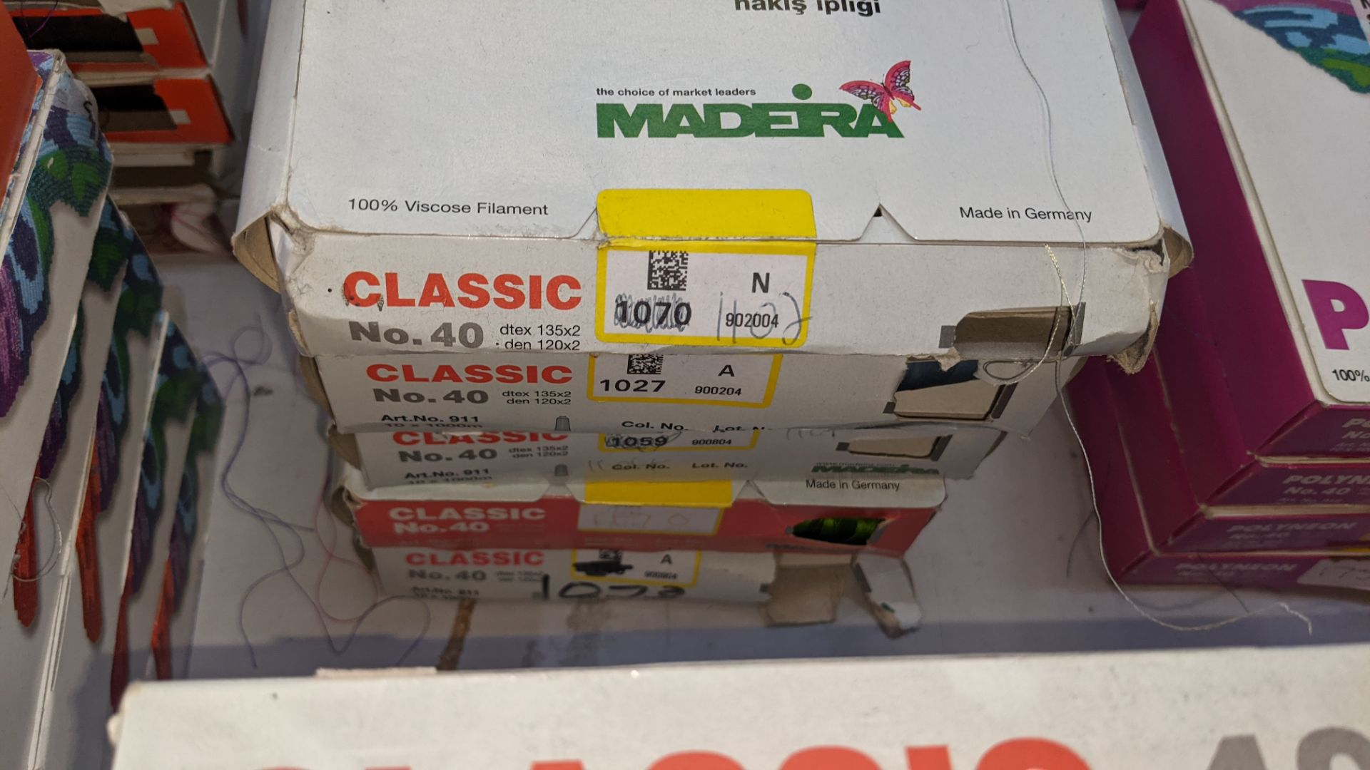 22 boxes of Madeira Classic No. 40 rayon embroidery thread - Image 5 of 11