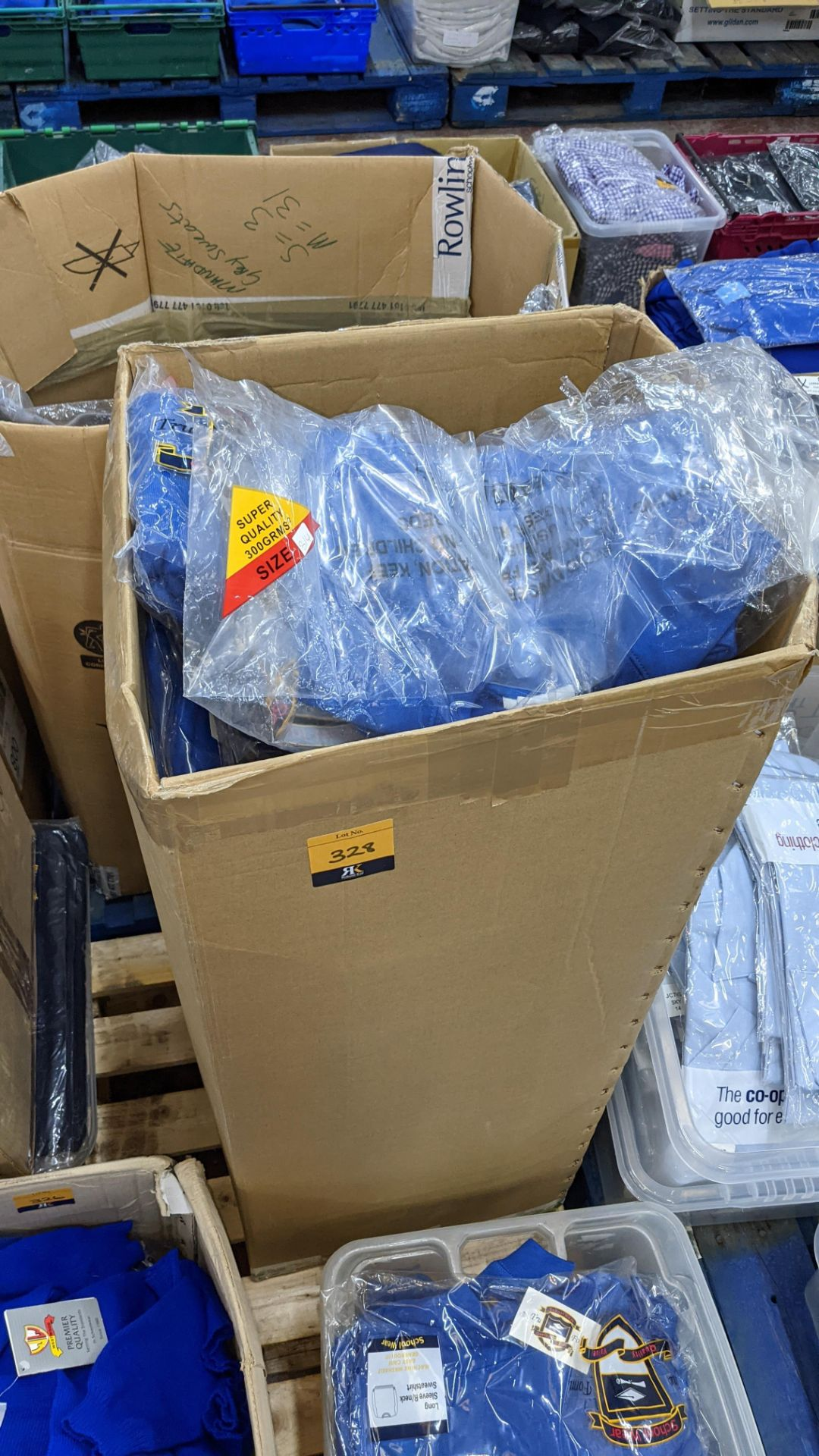 Approx 63 off blue children's sweatshirts - the contents of 1 tall box - Image 2 of 5