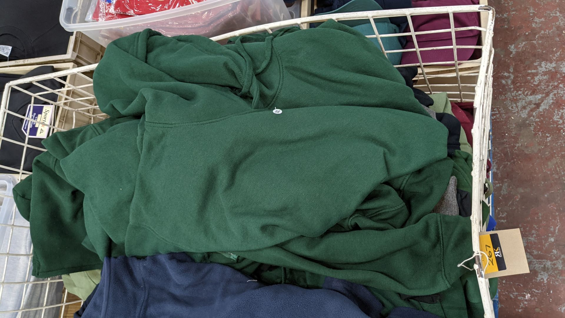 Large quantity of fleece tops - the contents of large cage. NB cage excluded - Image 5 of 8