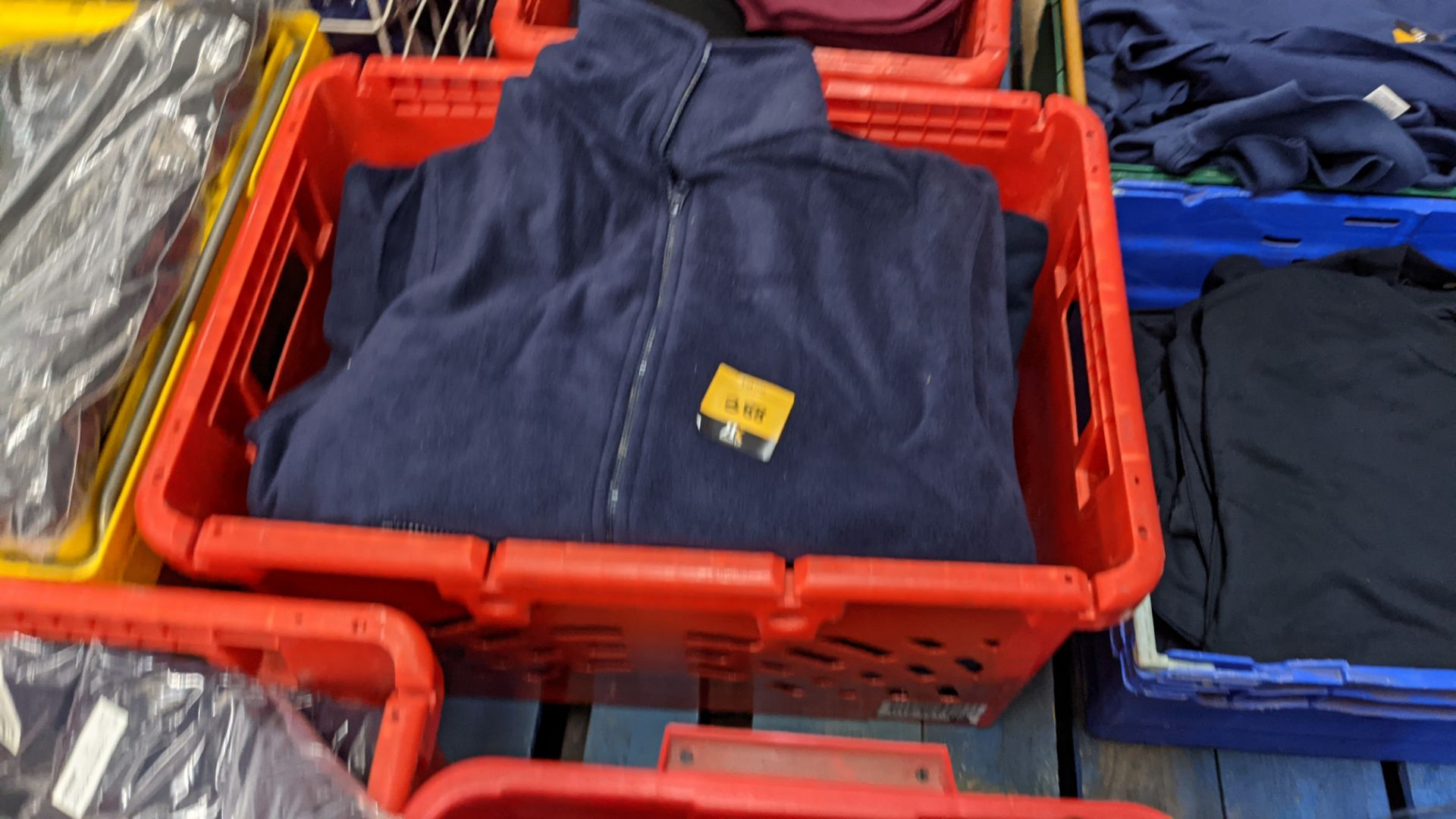 Approx 8 off assorted blue fleece zip up tops - Image 2 of 3