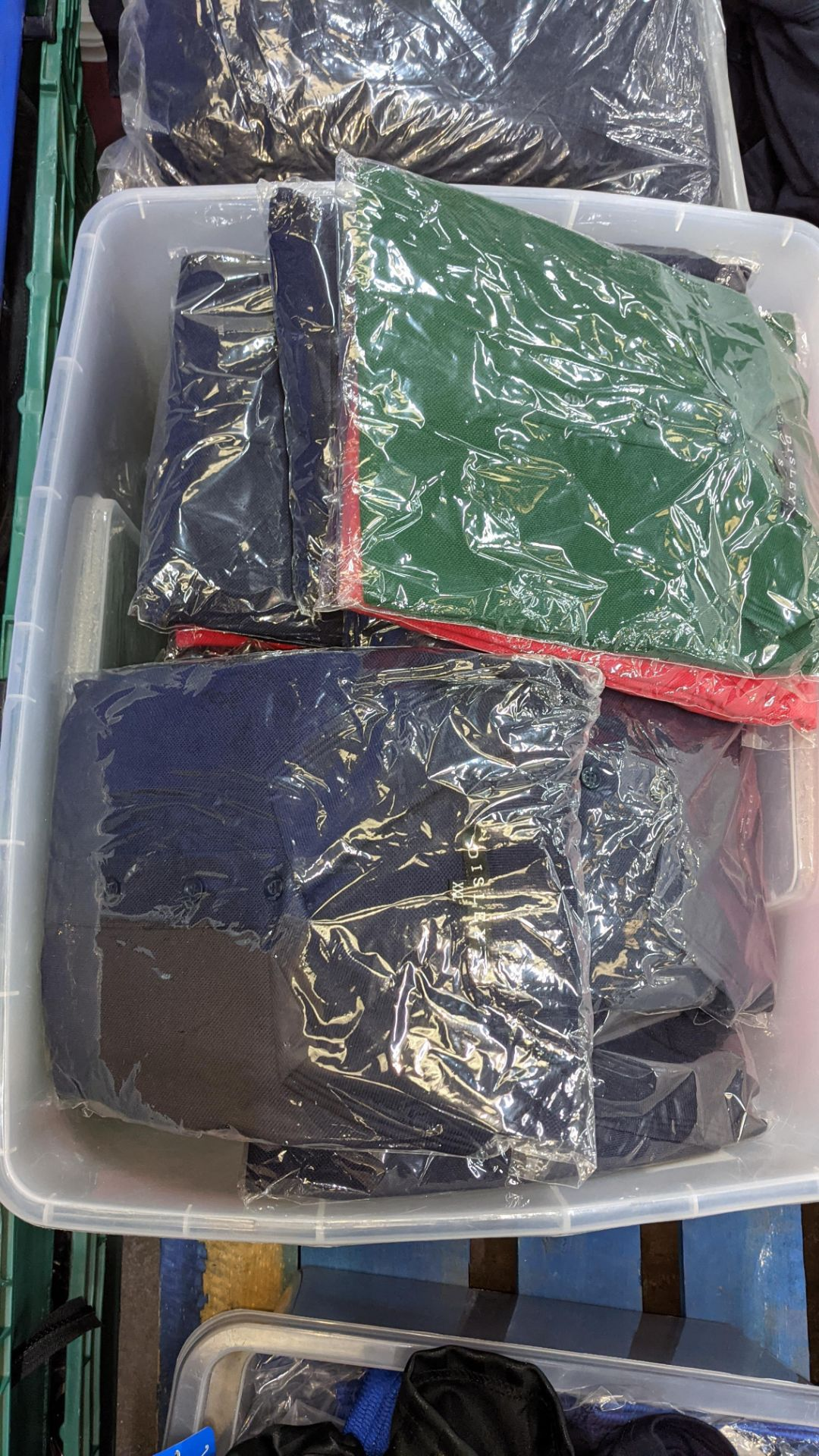 Large quantity of assorted polo shirts - the contents of 1 large crate. NB crate excluded - Image 3 of 5