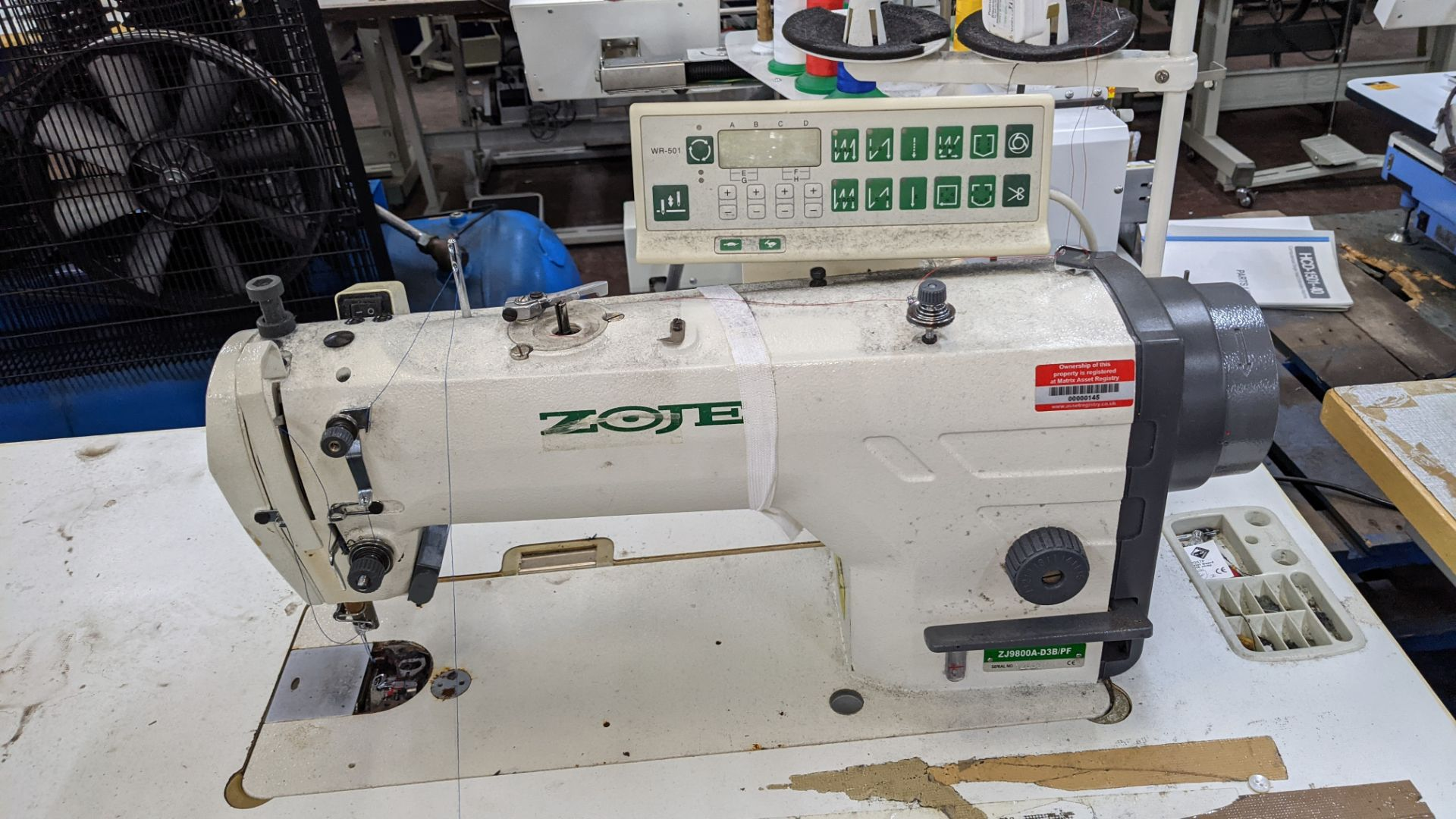 Zoje model ZJ9800A-D3B/PF sewing machine with WR-501 controller - Image 6 of 16