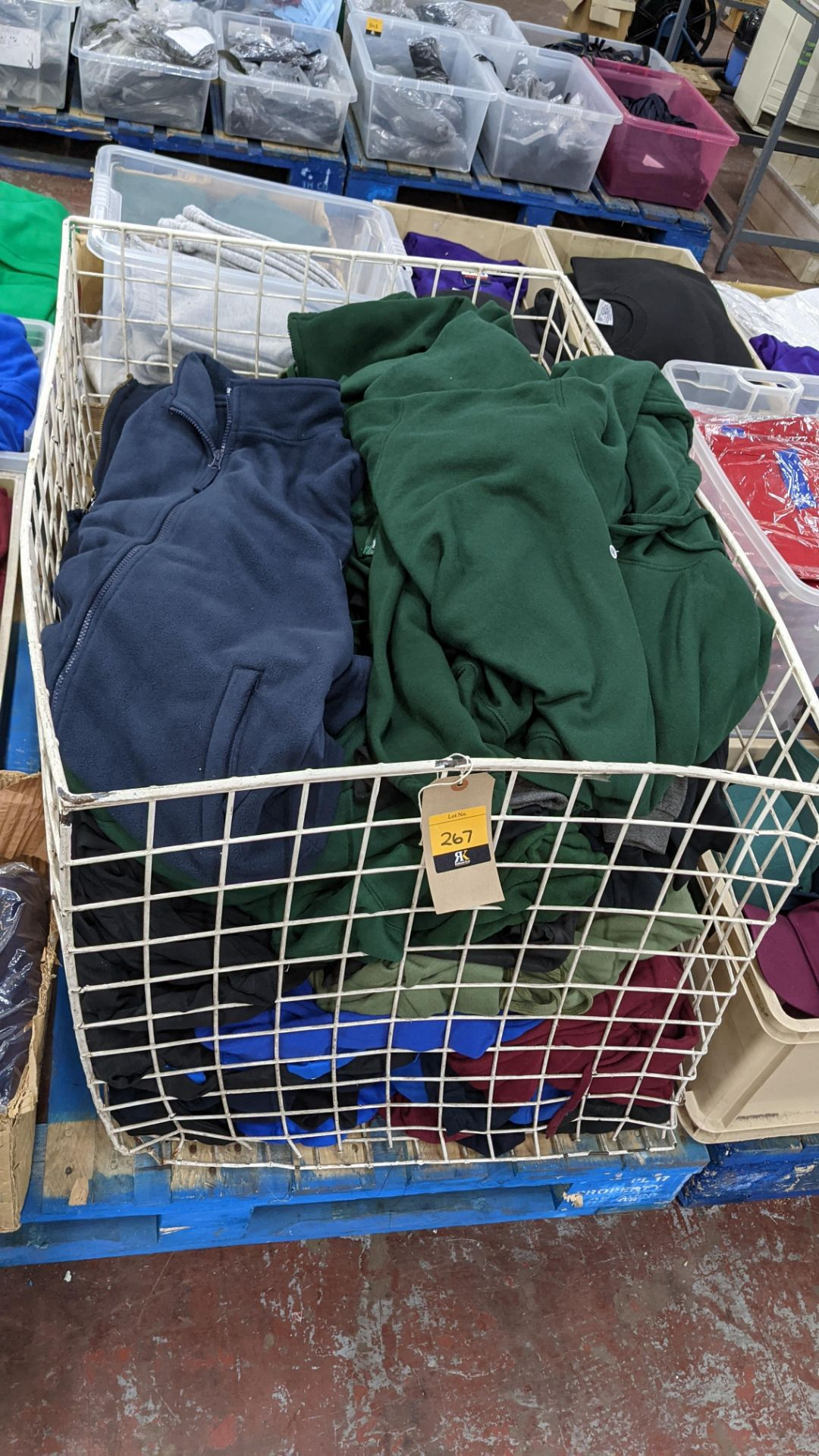 Large quantity of fleece tops - the contents of large cage. NB cage excluded - Image 2 of 8