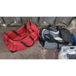 2 off soft holdalls with built-in wheels