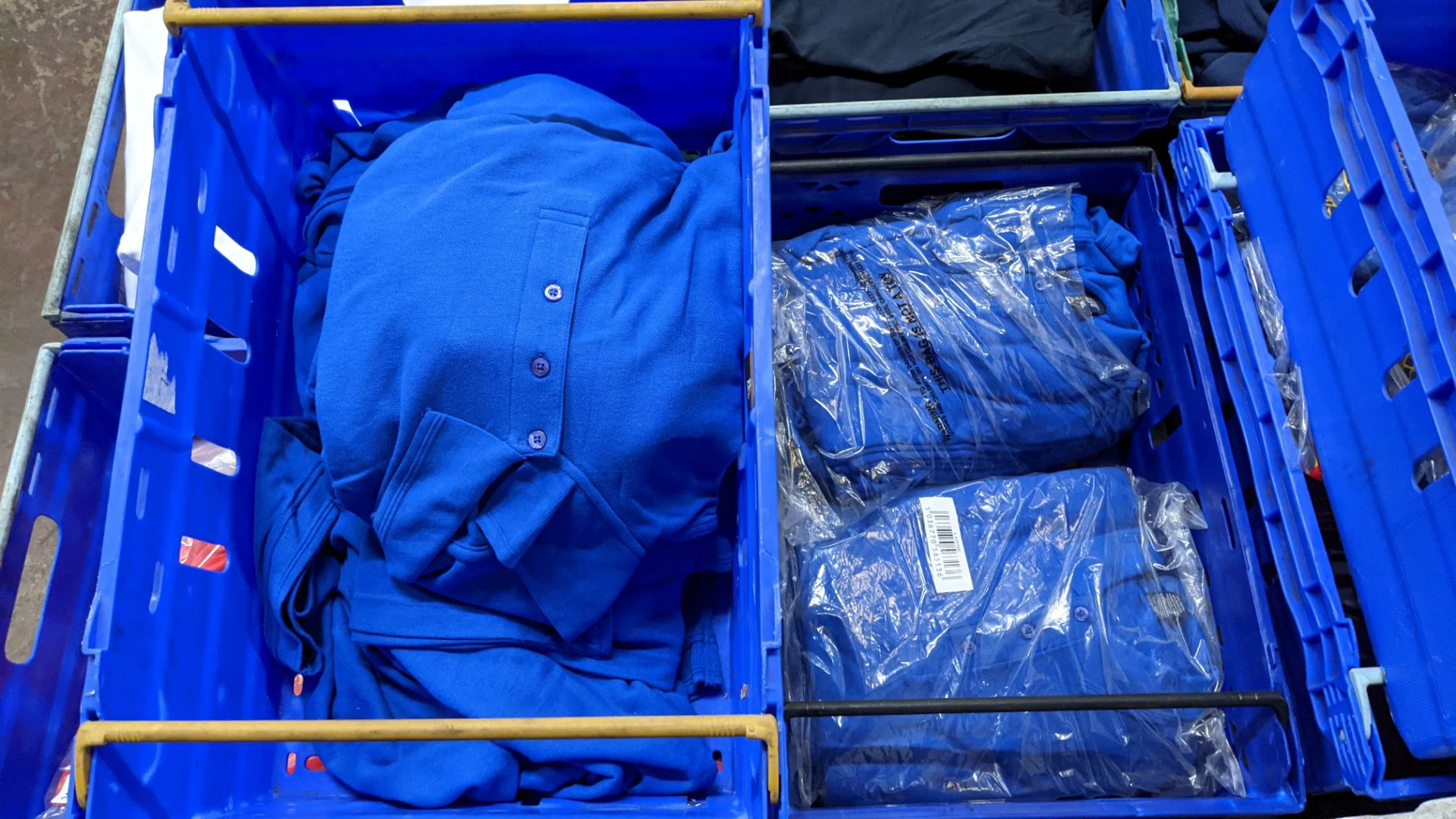 Approx 30 off royal blue polo shirts (2 crates) - Image 3 of 6