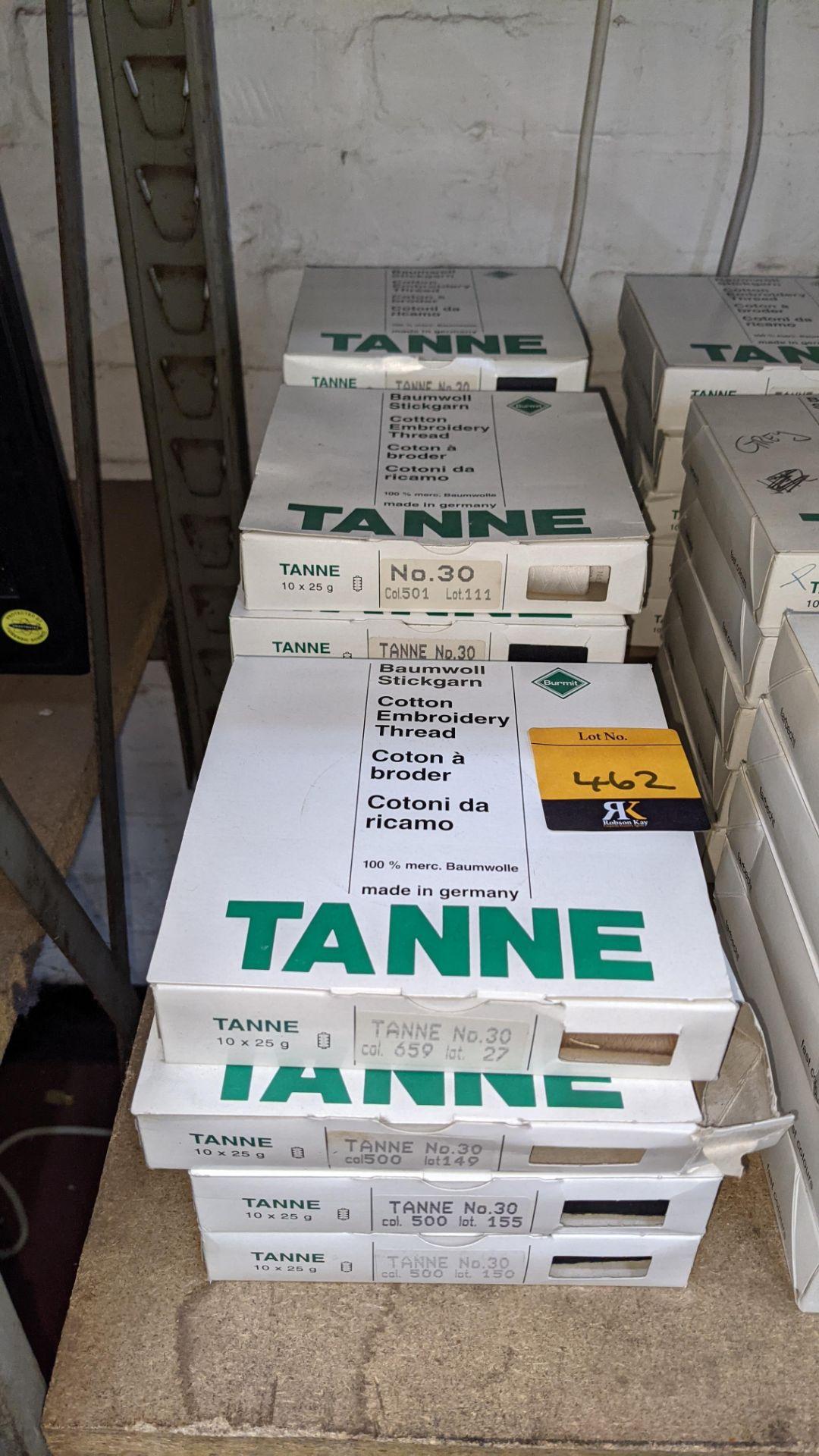 14 boxes of Madeira Tanne (Burmit) cotton embroidery thread