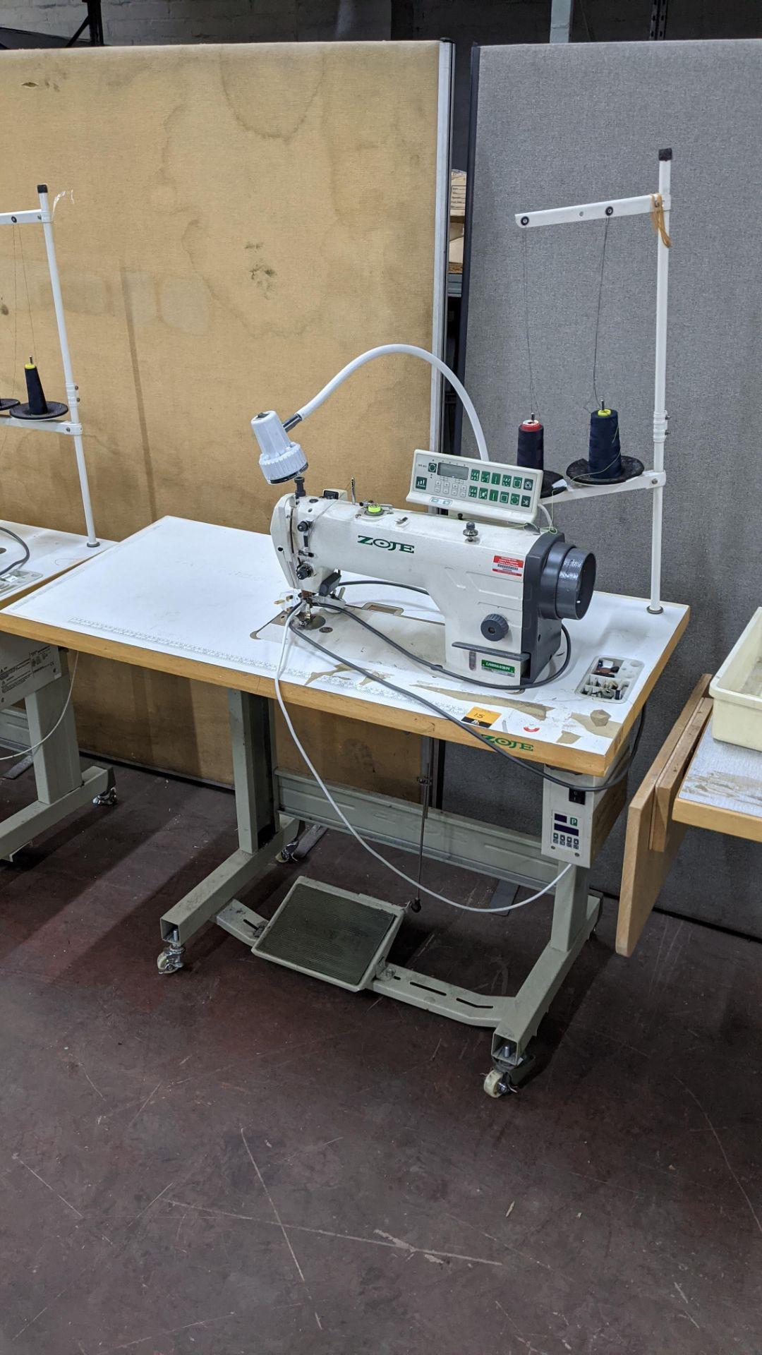 Zoje model ZJ9800A-D3B/PF lockstitch sewing machine with model WR-501 digital controller - Image 3 of 14