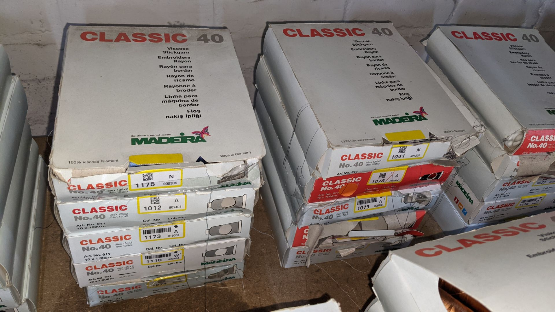 20 assorted boxes of Madeira Classic No. 40 embroidery rayon thread - Image 4 of 8