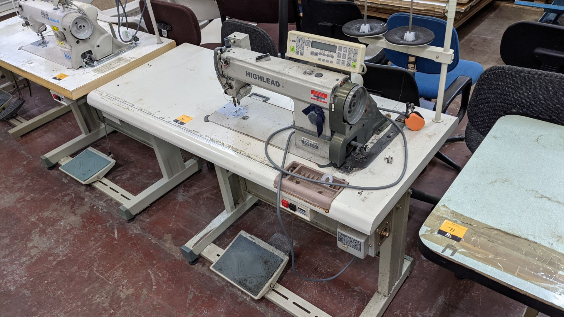 Highlead model GC128-M-D3 sewing machine with model C-60M digital controller - Image 2 of 14