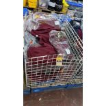 Large quantity of children's burgundy sweatshirts - the contents of 1 large cage. NB cage excluded
