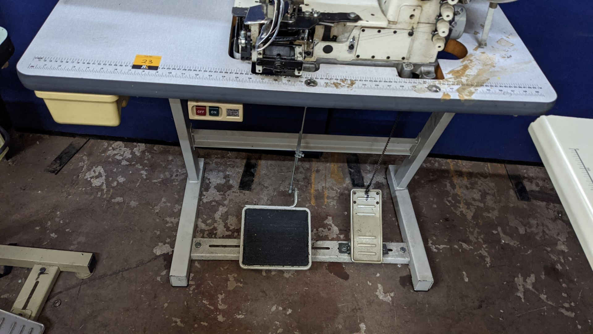 Ta King overlocker, model TK-FB-6504PMD, with edge band guide - Image 13 of 16