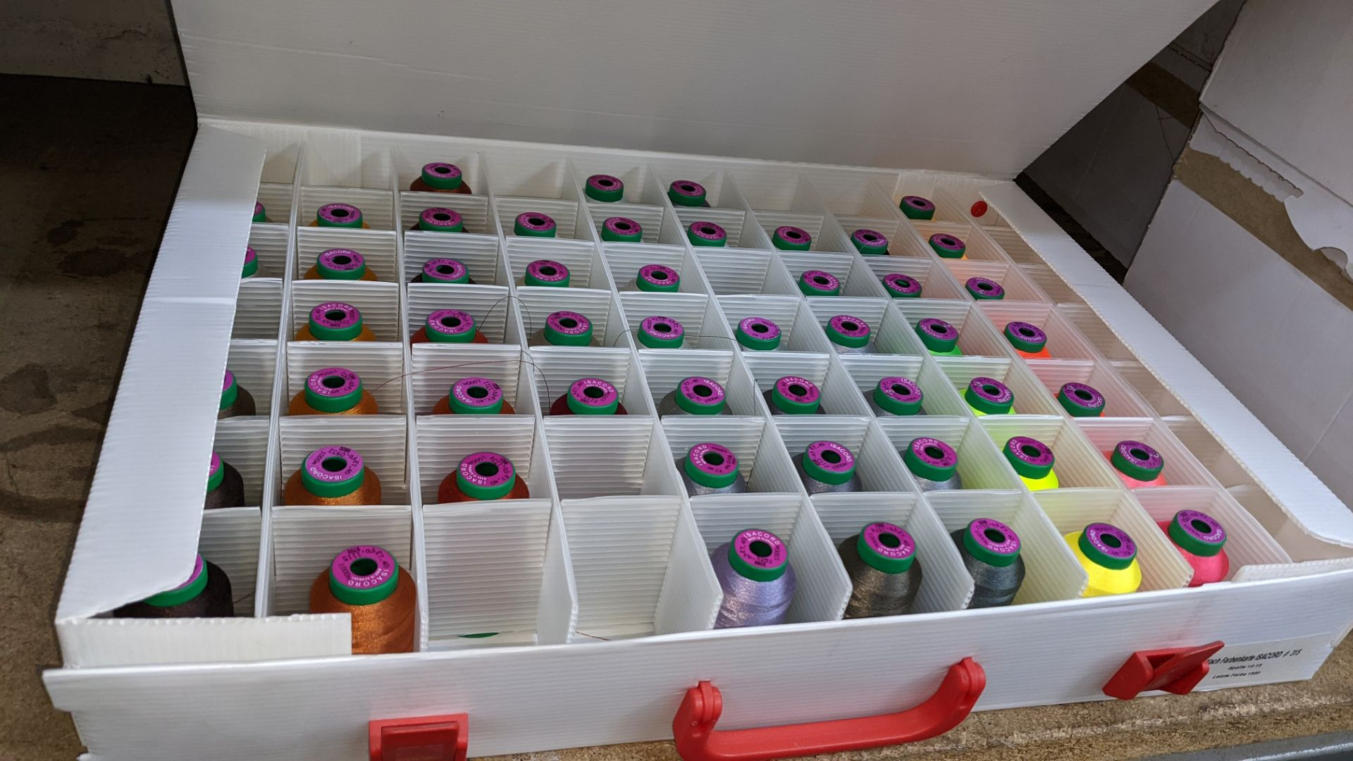 5 large cases of Ackermann Isacord thread - Image 3 of 13