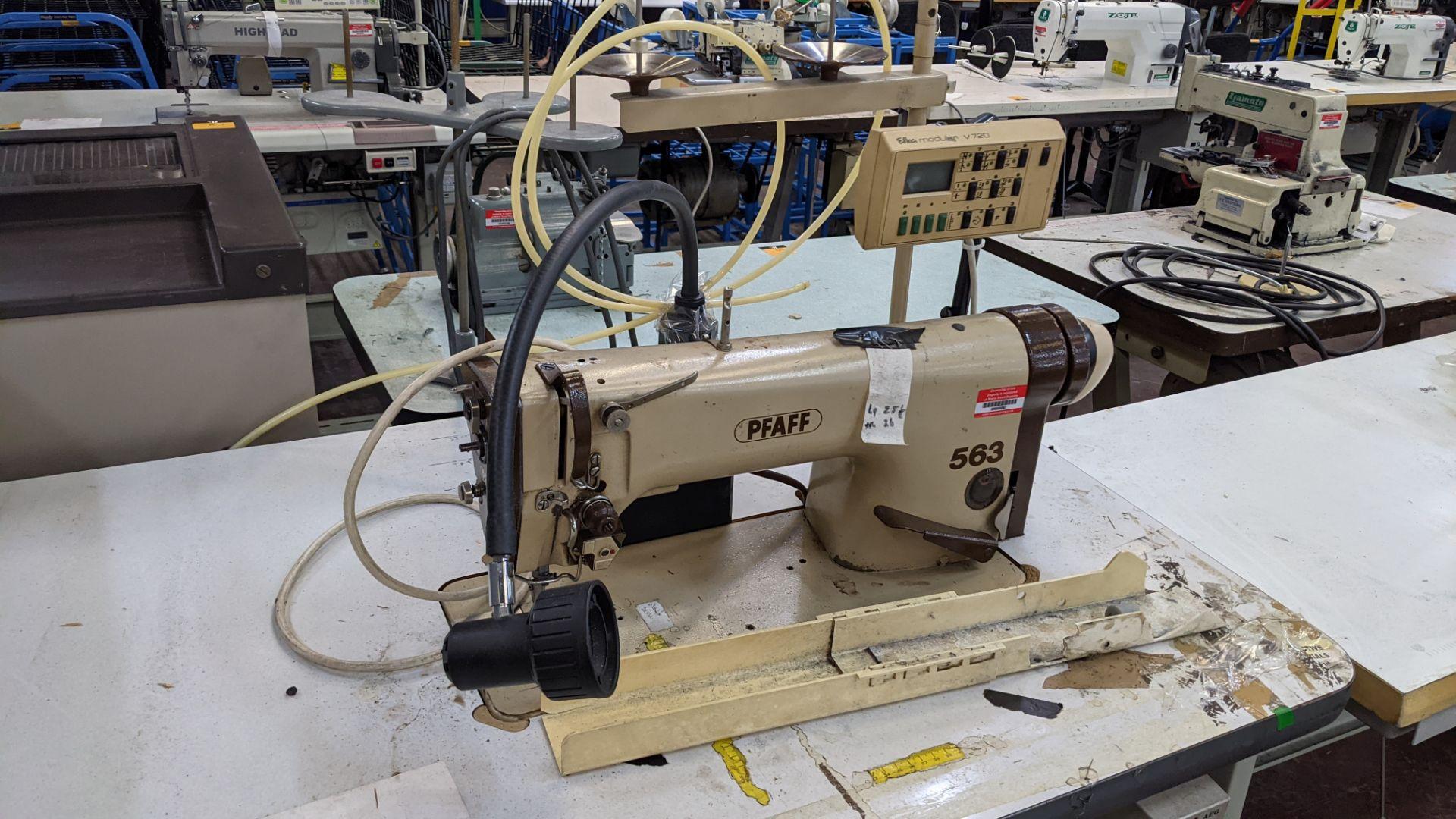 Pfaff model 563 sewing machine with Efka modular V720 digital controller - Image 7 of 13