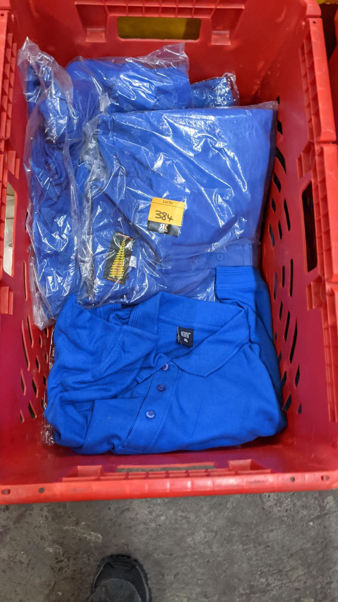 Approx 17 off bright blue polo shirts - Image 3 of 4