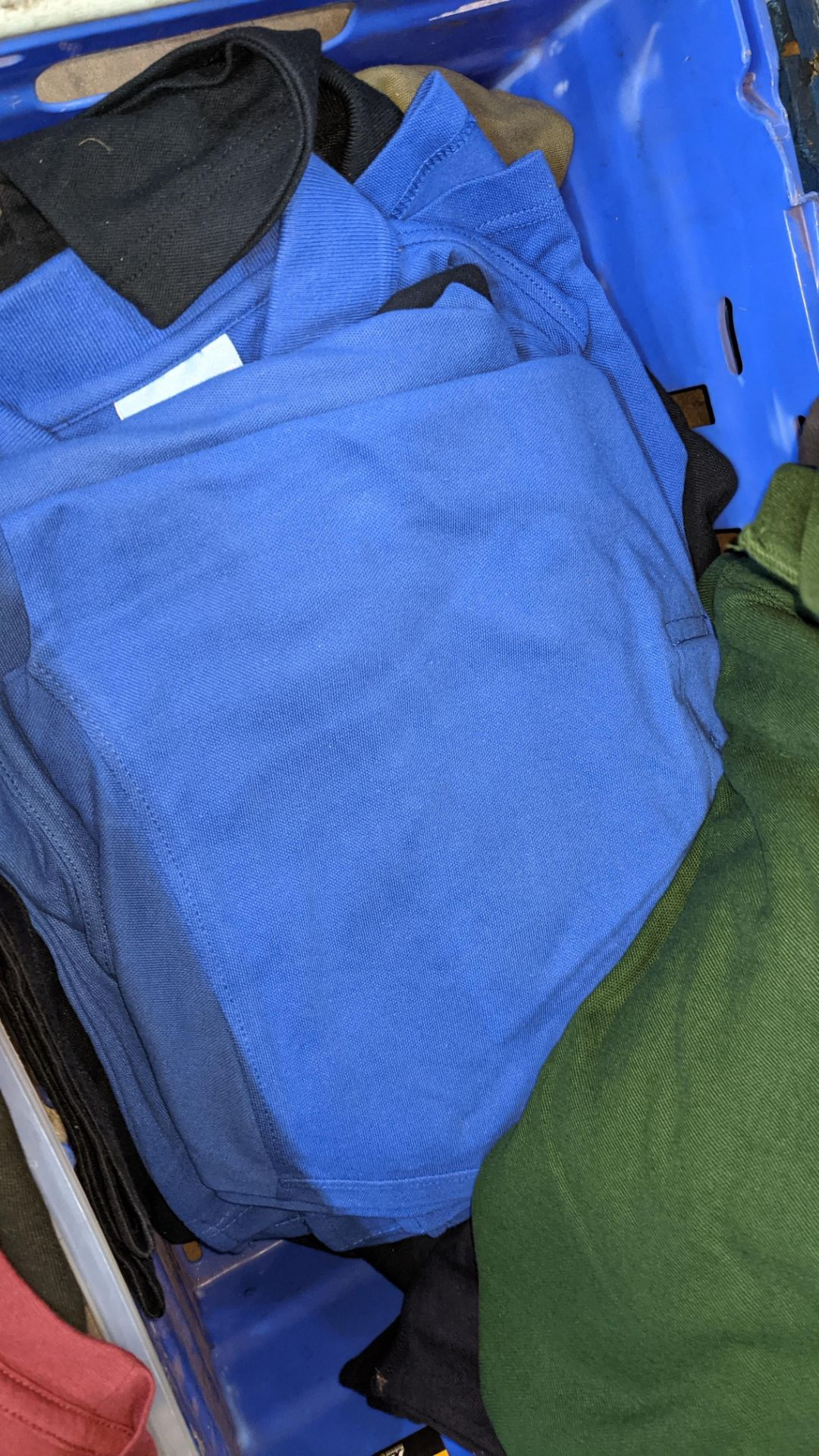 Approx 23 off Uneek assorted blue polo shirts - Image 4 of 6