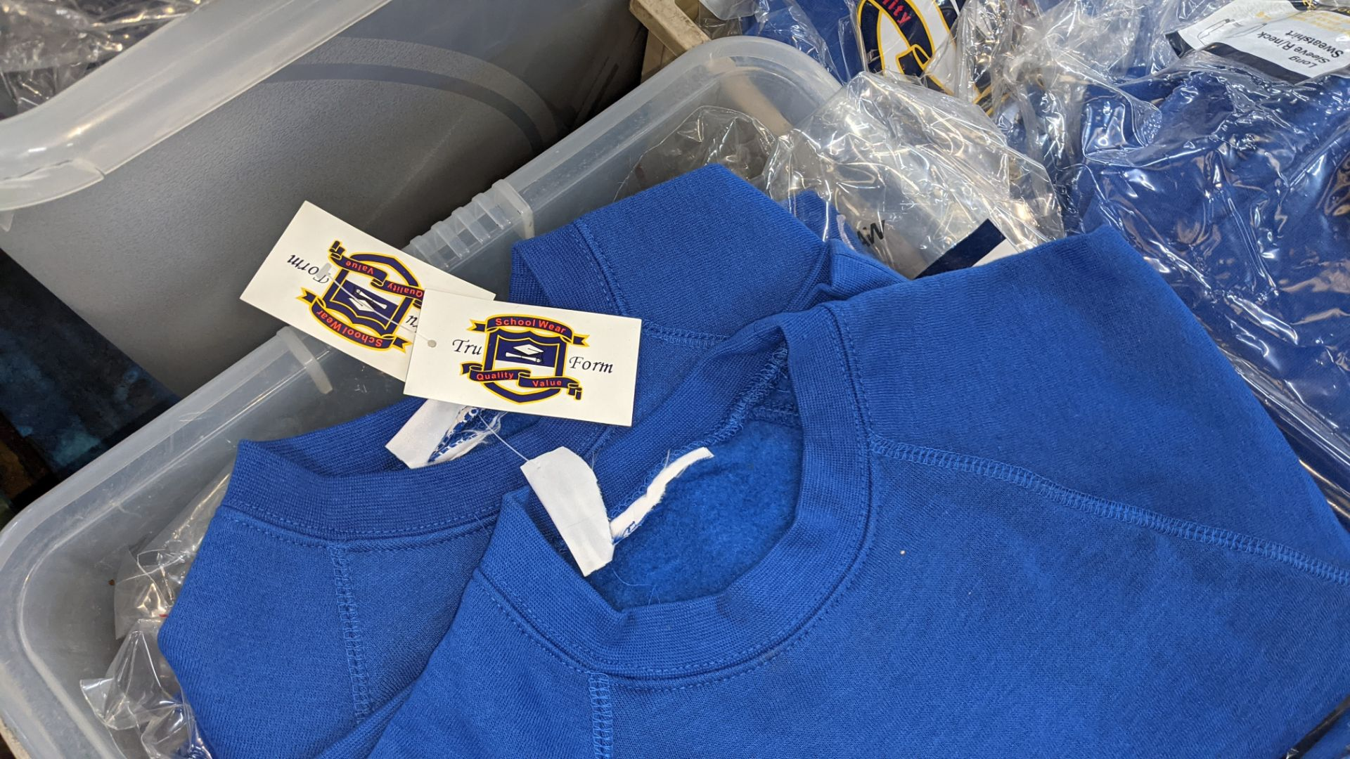 Approx 26 off blue children's sweatshirts & similar - the contents of 1 crate. NB crate excluded - Image 4 of 4