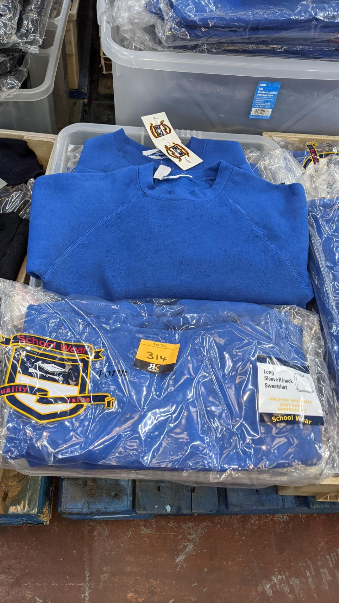 Approx 26 off blue children's sweatshirts & similar - the contents of 1 crate. NB crate excluded - Image 2 of 4