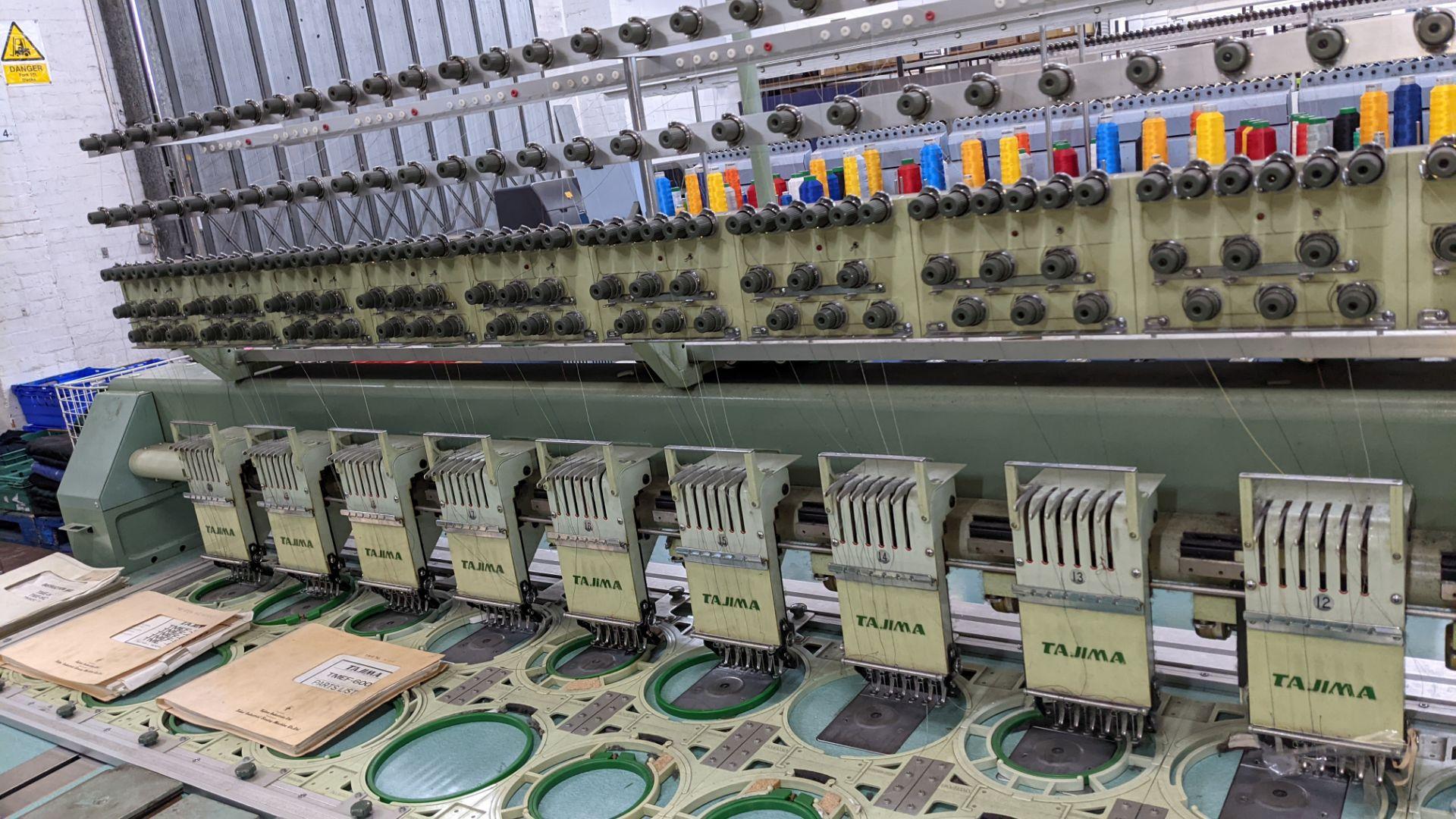 Tokai Tajima electronic 20 head automatic embroidery machine model TMEF-H620 - Image 10 of 25