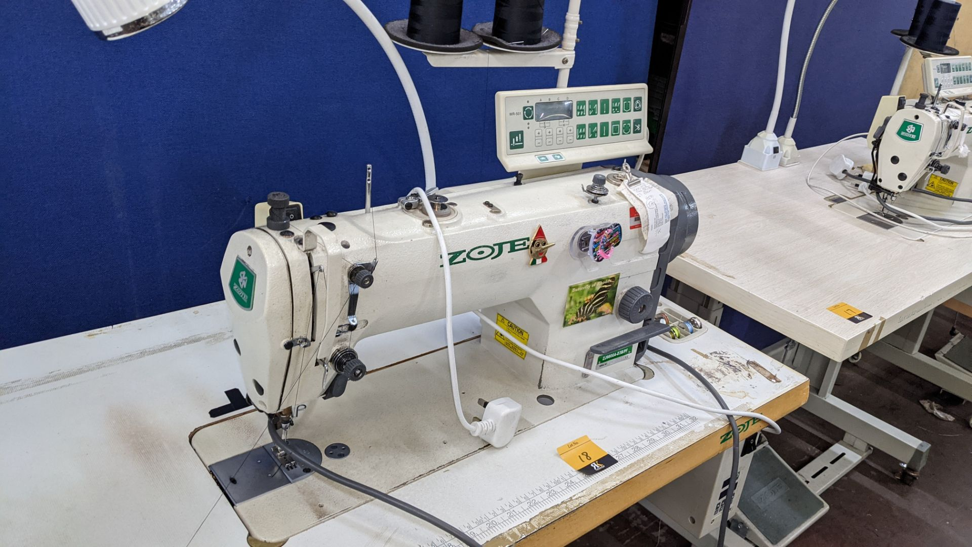 Zoje model ZJ9800A-D3B/PF lockstitch sewing machine with model WR-501 digital controller - Image 7 of 20