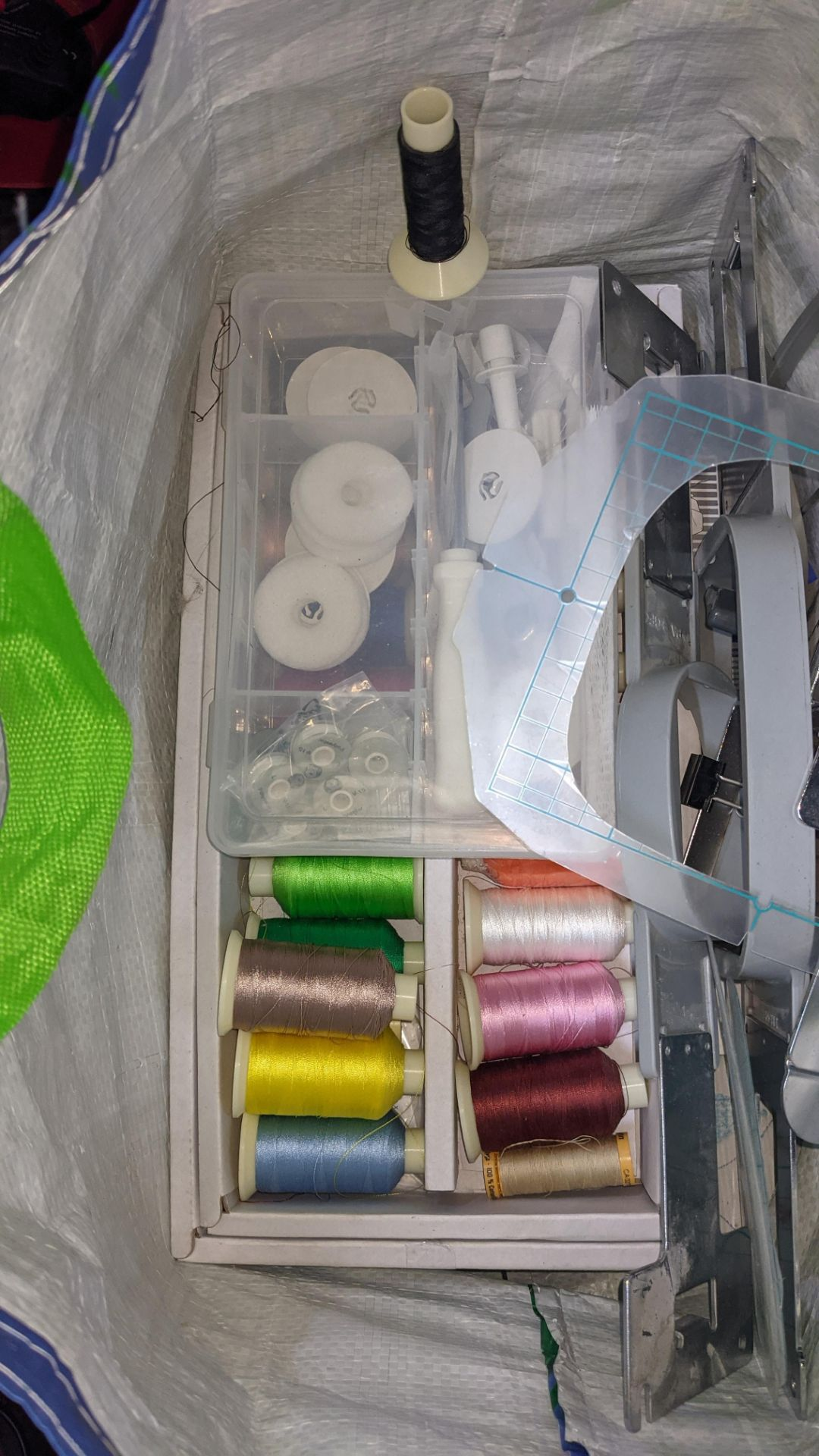 Brother PR655 single head 6 needle embroidery machine, serial no. E72364-D6B113501 incorporating lar - Image 19 of 25
